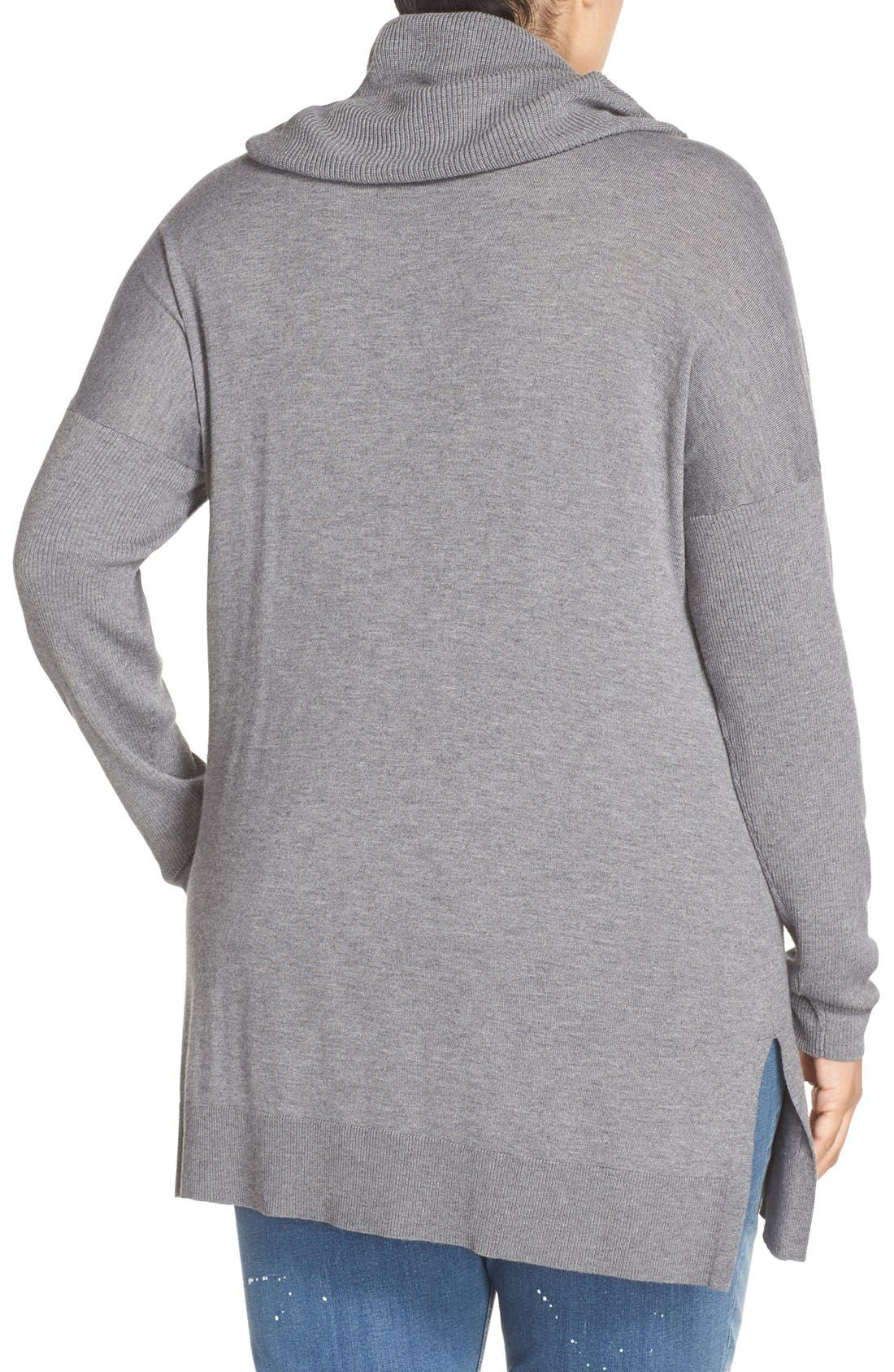 Cowl Neck Tunic Sweater,                             Alternate thumbnail 12, color,