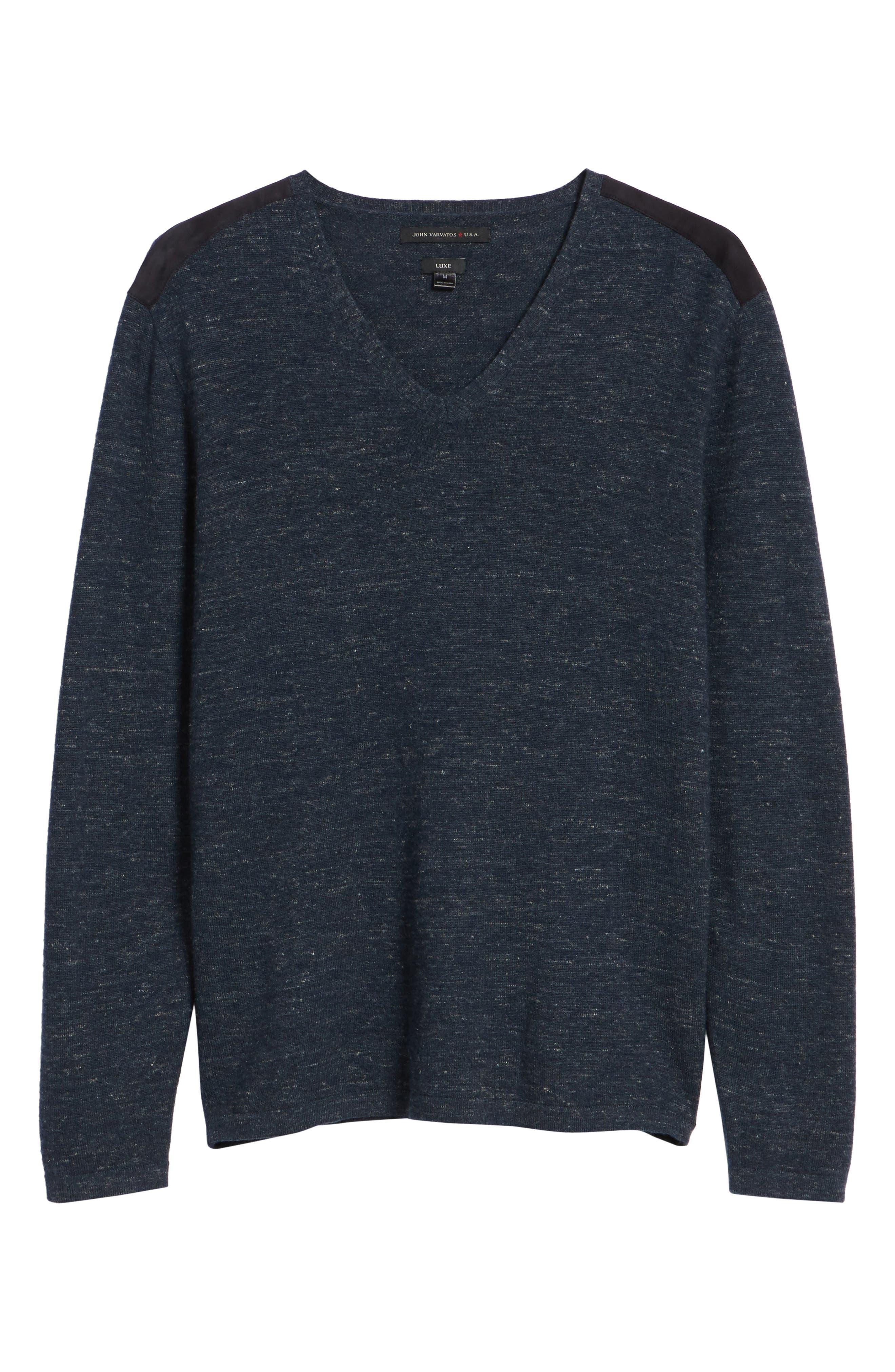Long Sleeve V-Neck Sweater,                             Alternate thumbnail 17, color,