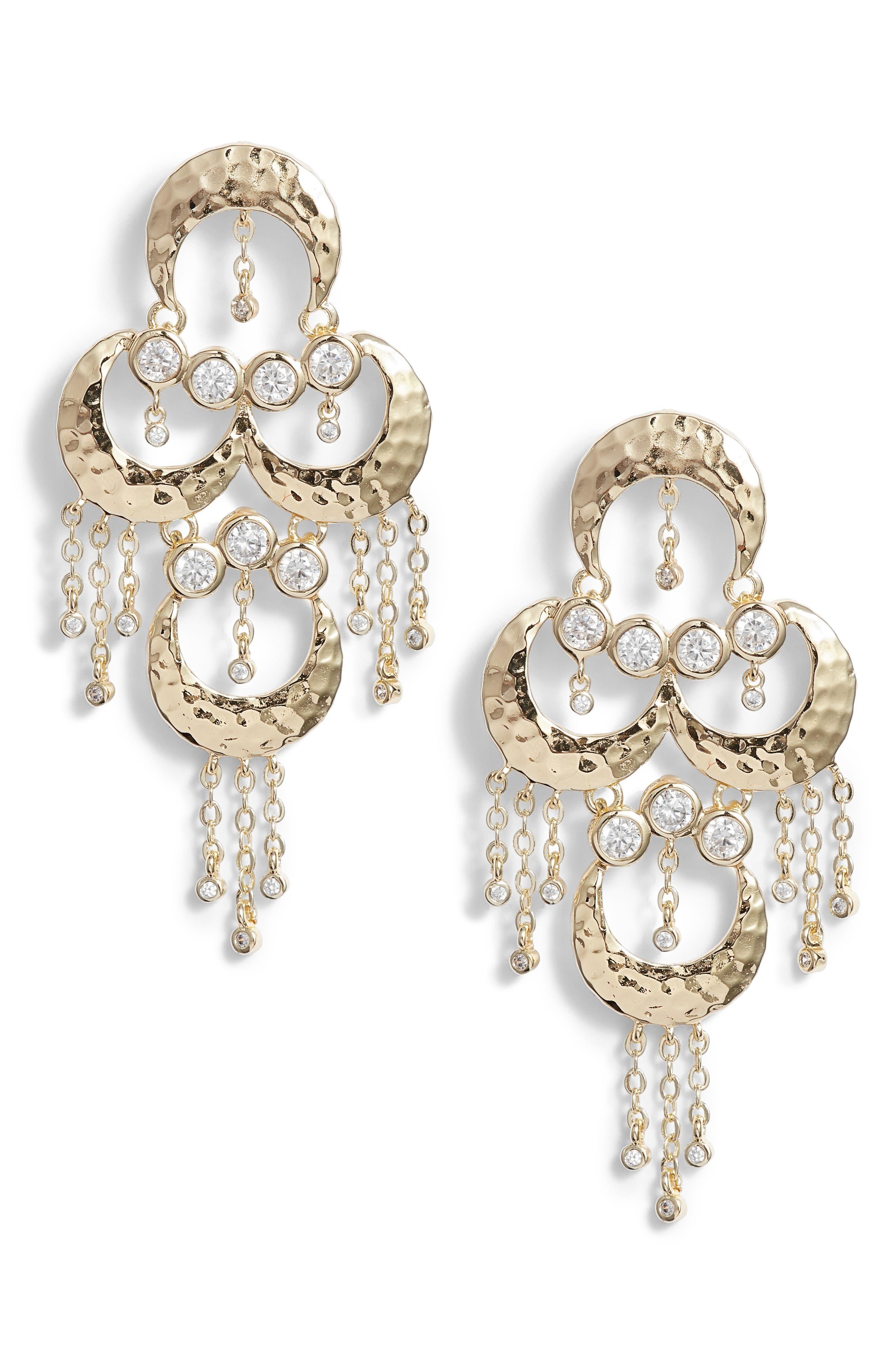 Tran Baby Chandelier Earrings,                         Main,                         color, 710