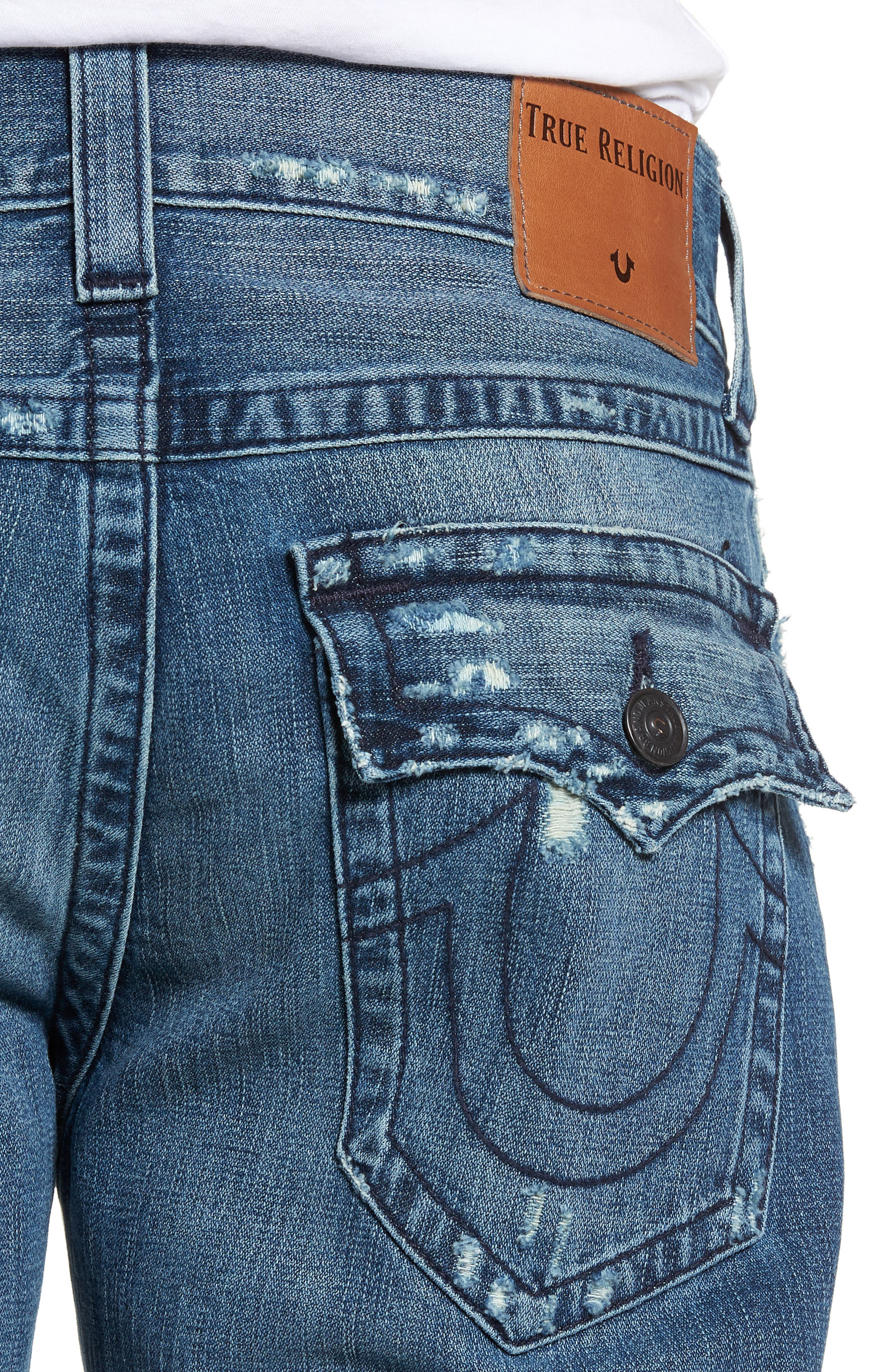 Geno Straight Fit Jeans,                             Alternate thumbnail 4, color,                             WORN PASTURE