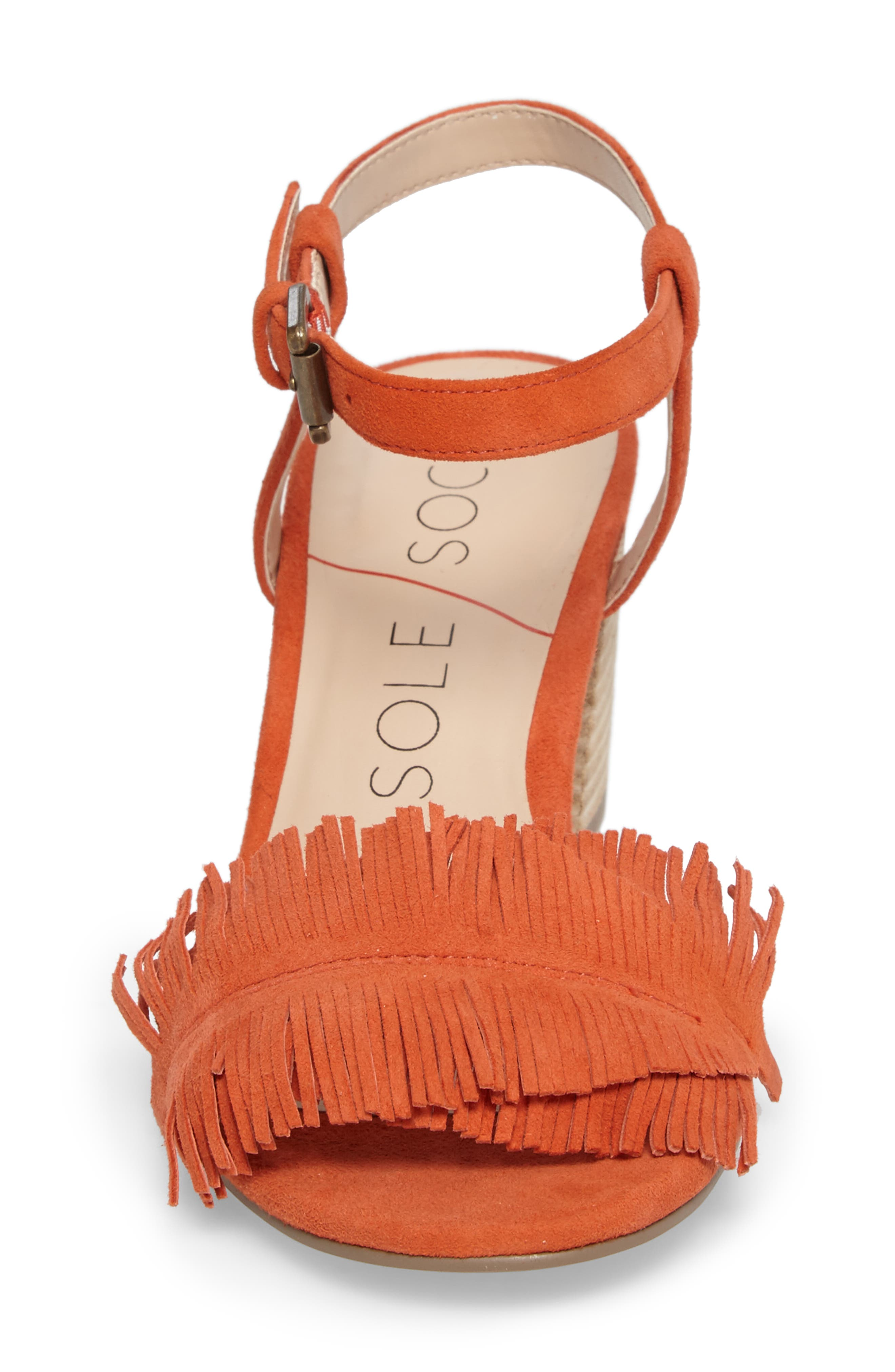 Sepia Fringe Sandal,                             Alternate thumbnail 12, color,
