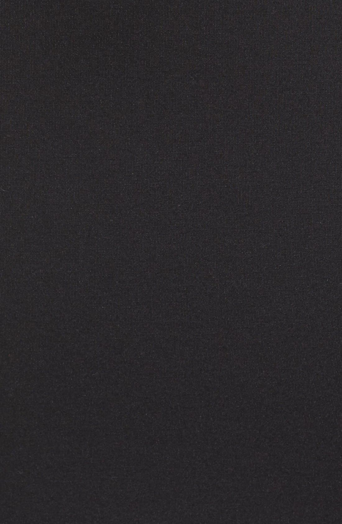 Cutout Body-Con Midi Dress,                             Alternate thumbnail 6, color,                             001