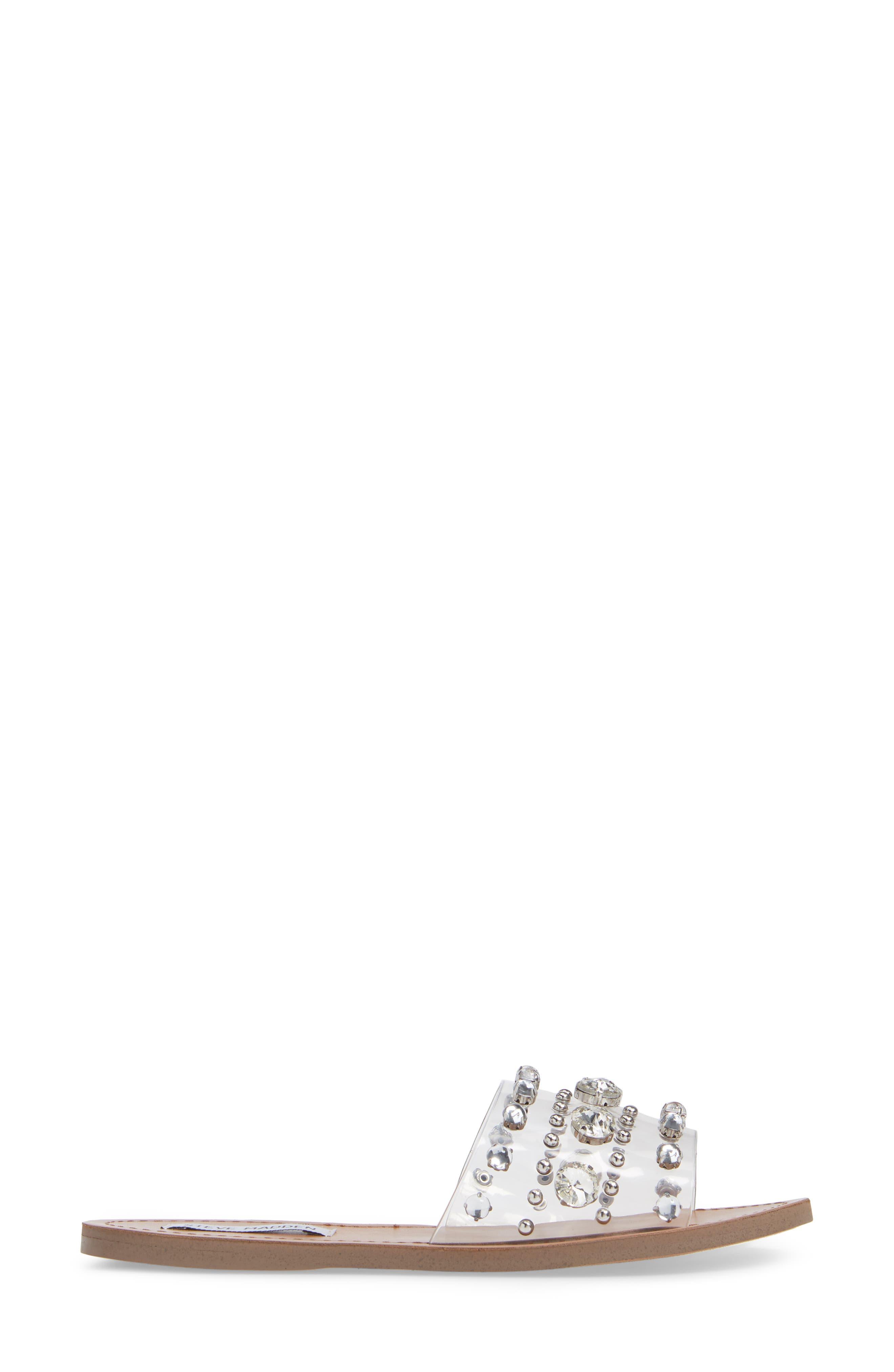 Regent Embellished Slide Sandal,                             Alternate thumbnail 3, color,                             CLEAR