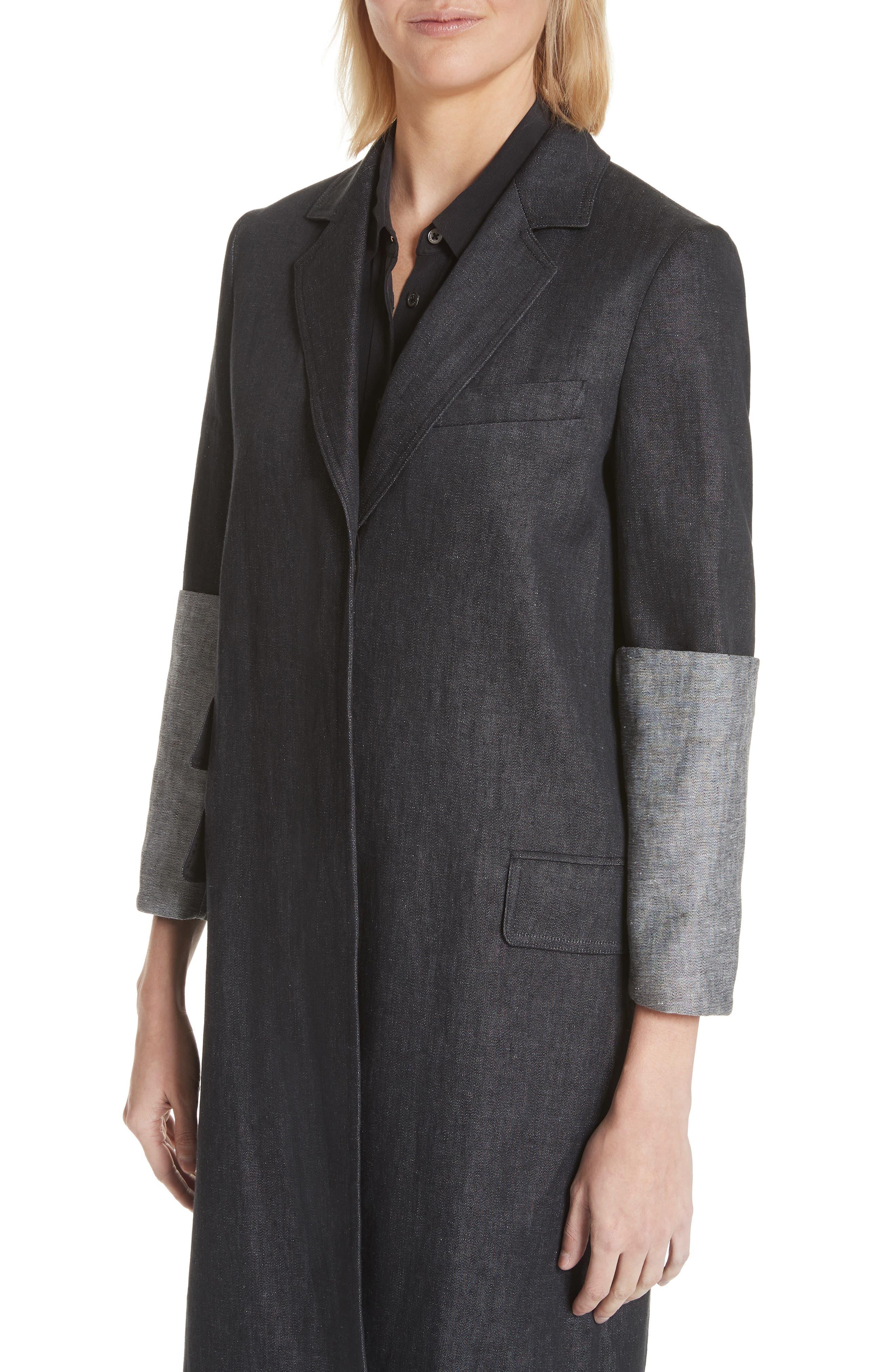 Cannone Linen Coat,                             Alternate thumbnail 4, color,