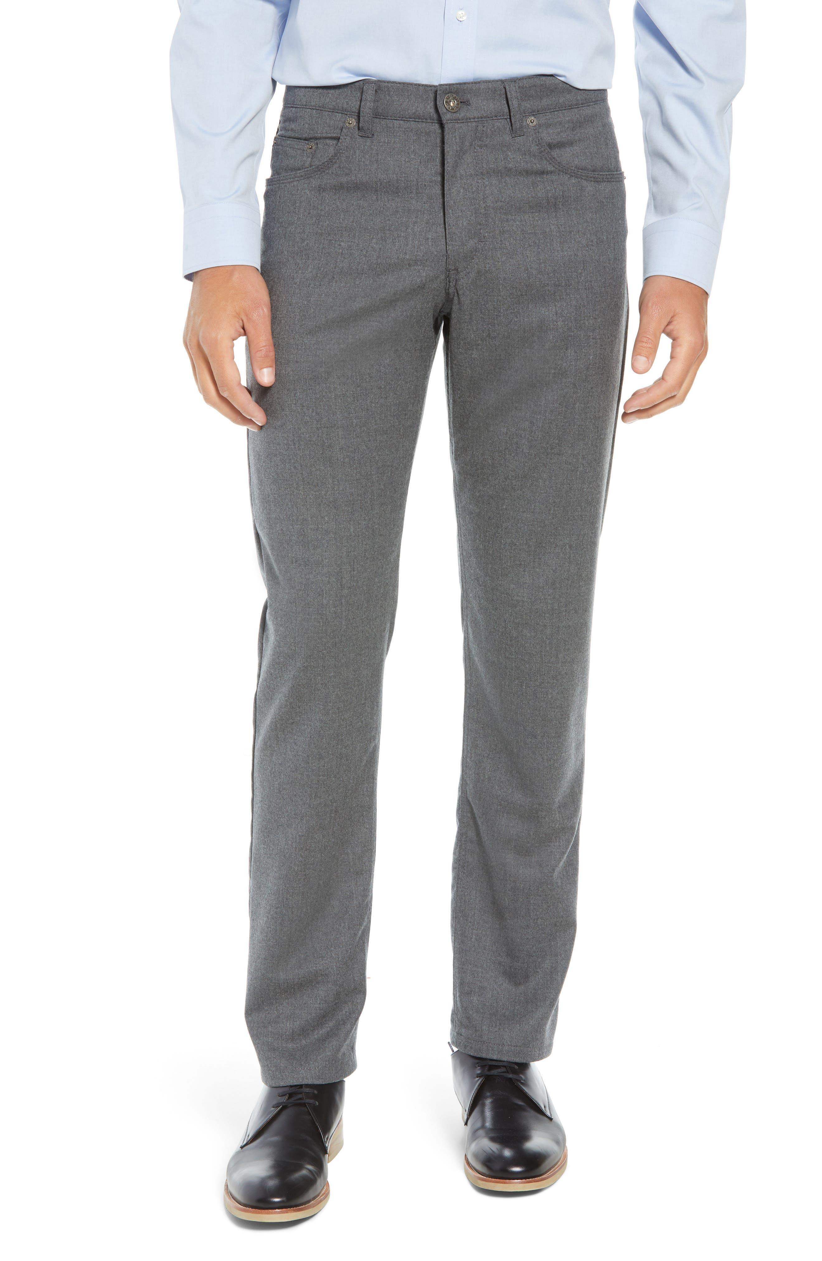 Enrico Five-Pocket Stretch Wool Trousers,                             Main thumbnail 1, color,                             GRAPHITE