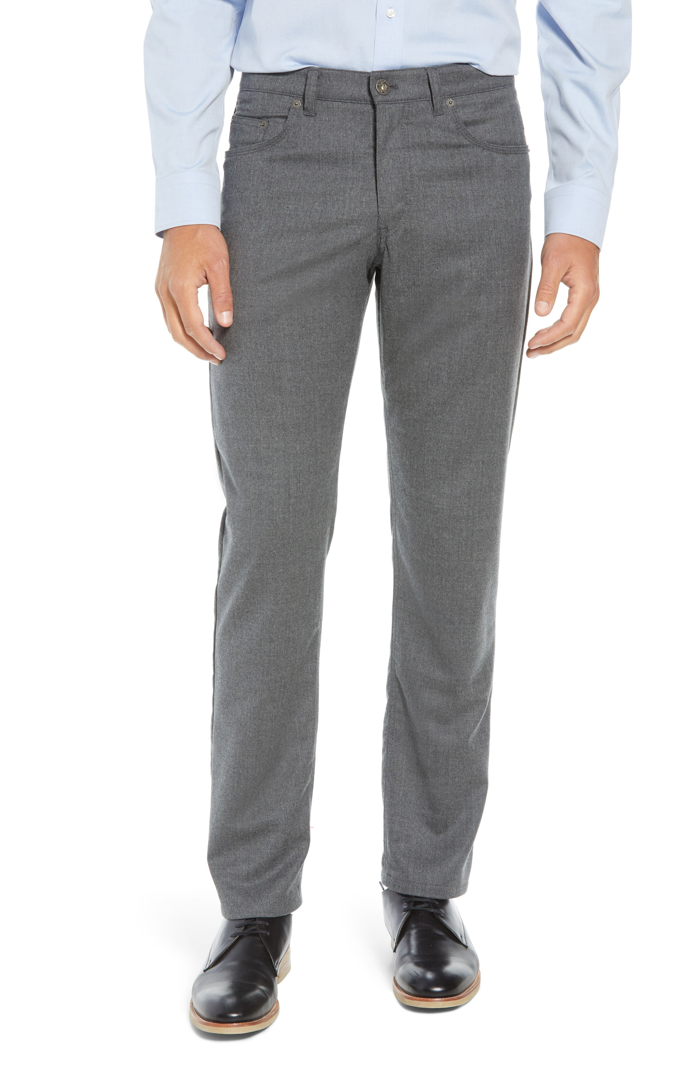 Enrico Five-Pocket Stretch Wool Trousers,                         Main,                         color, GRAPHITE