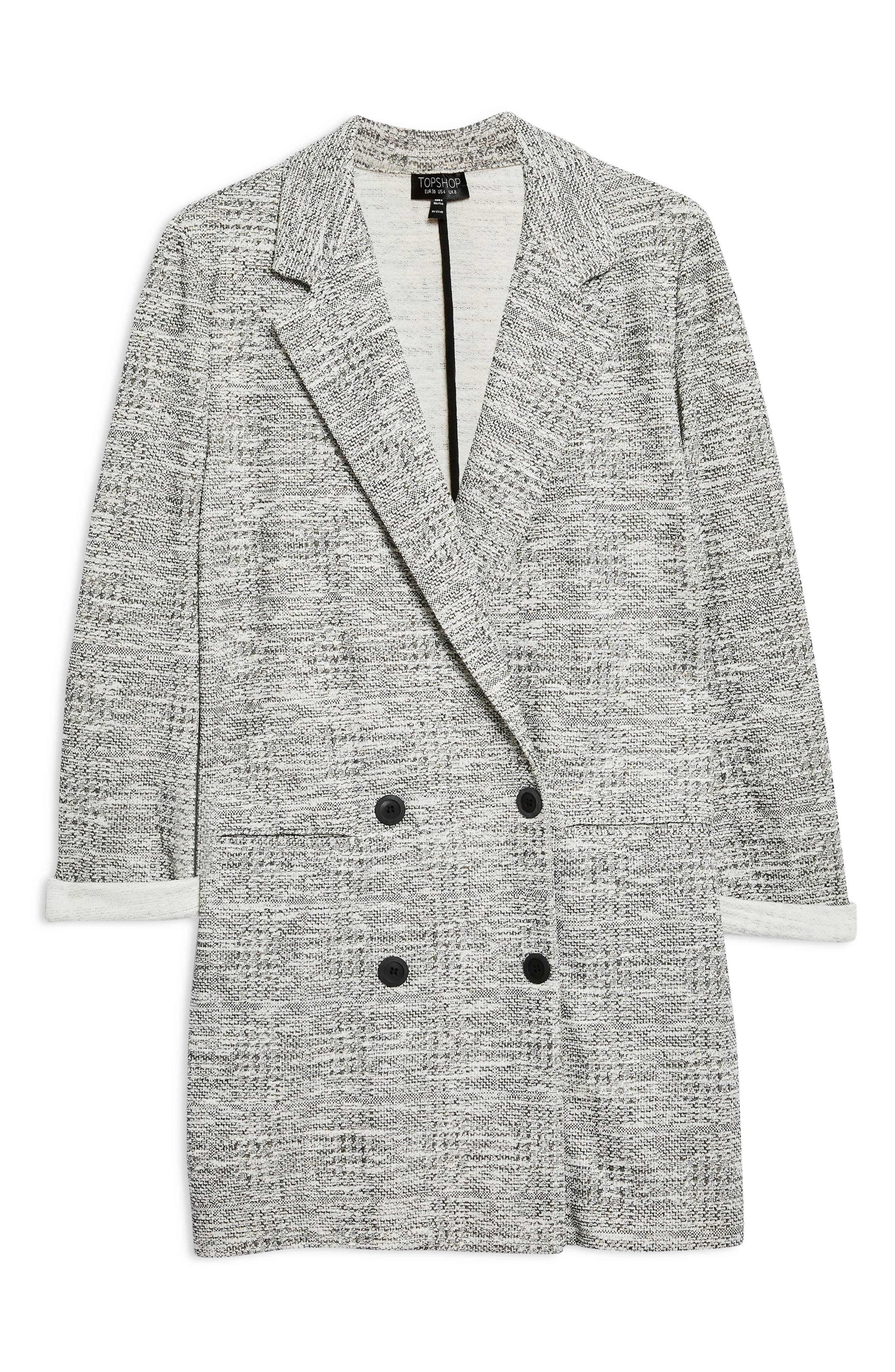 Sam Double Breasted Coat,                             Alternate thumbnail 4, color,                             GREY MULTI