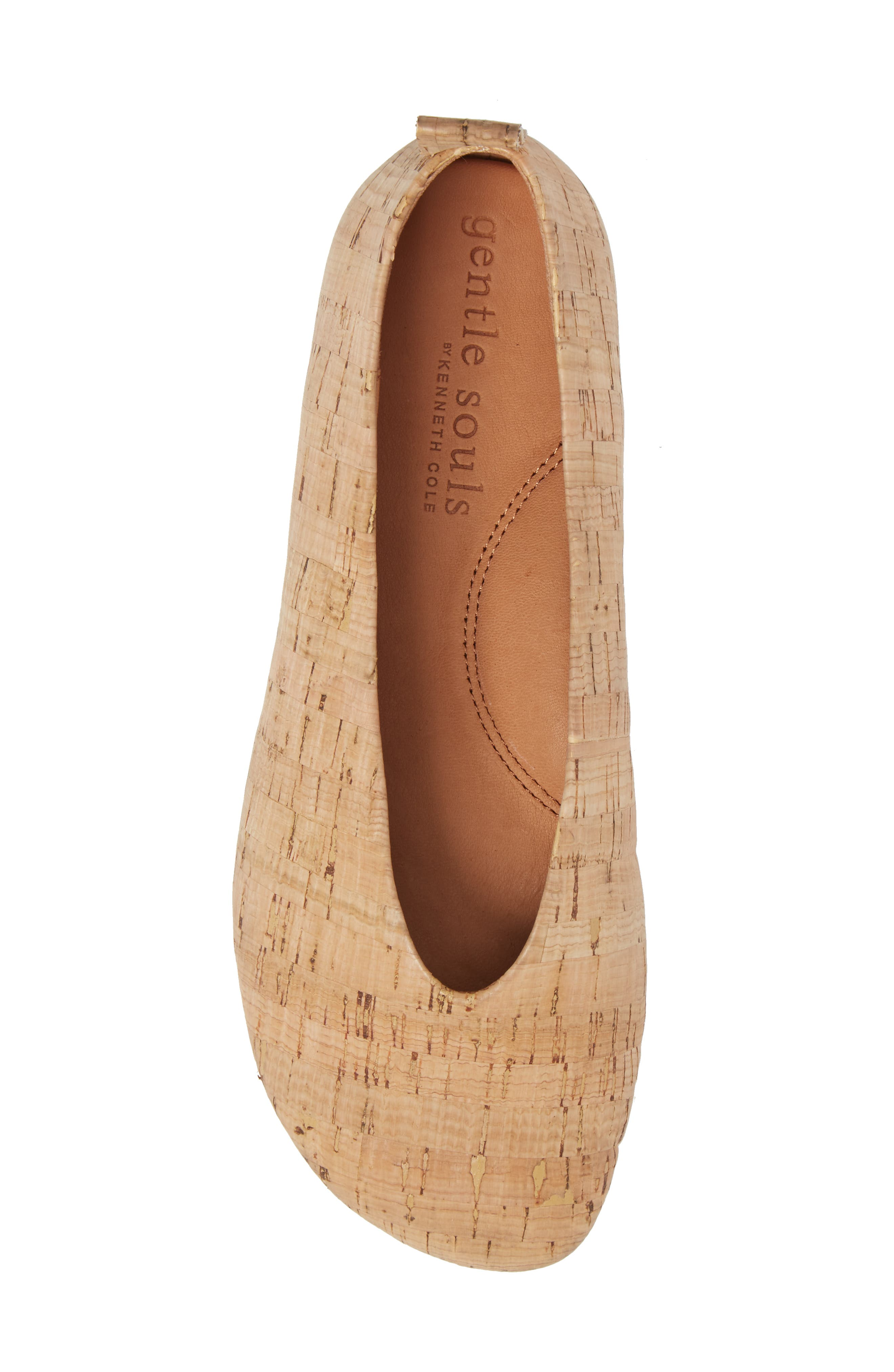 Demi Flat,                             Alternate thumbnail 5, color,                             NATURAL LEATHER