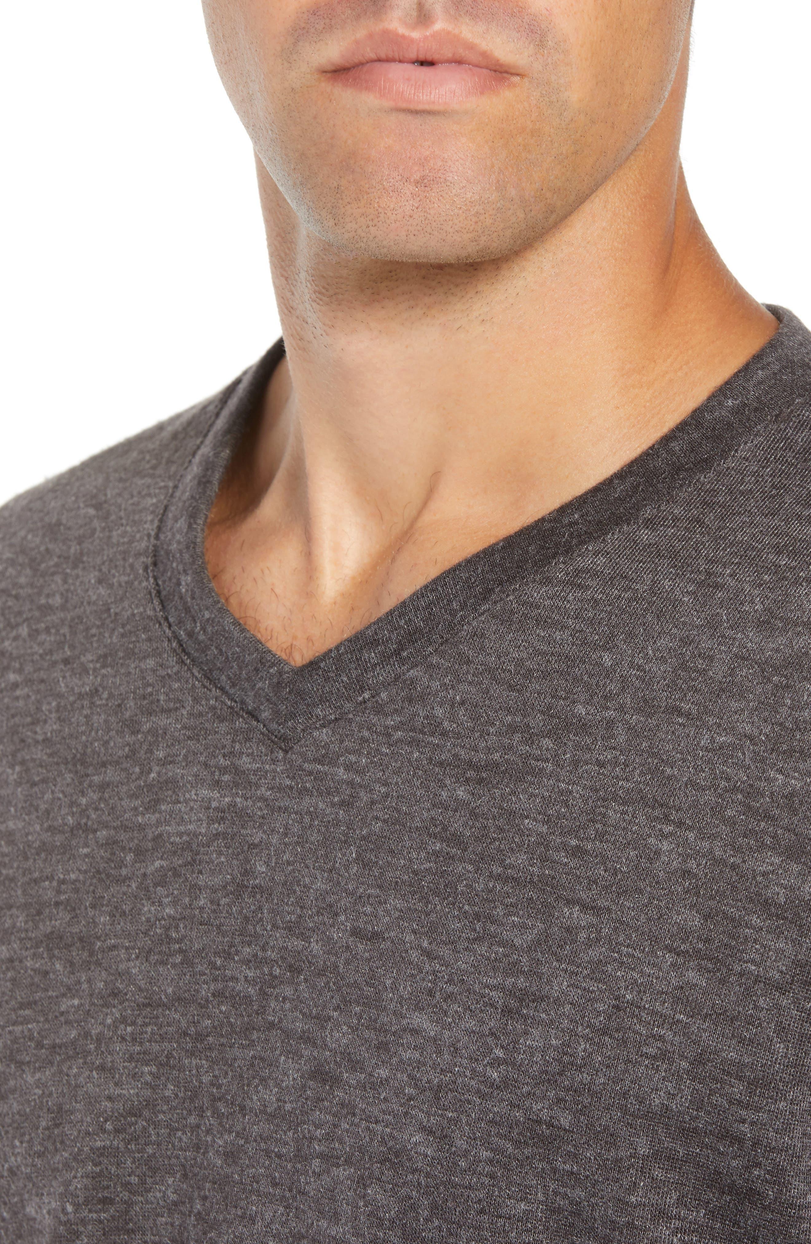 Prospect V-Neck Performance Sweater,                             Alternate thumbnail 4, color,                             CHARCOAL