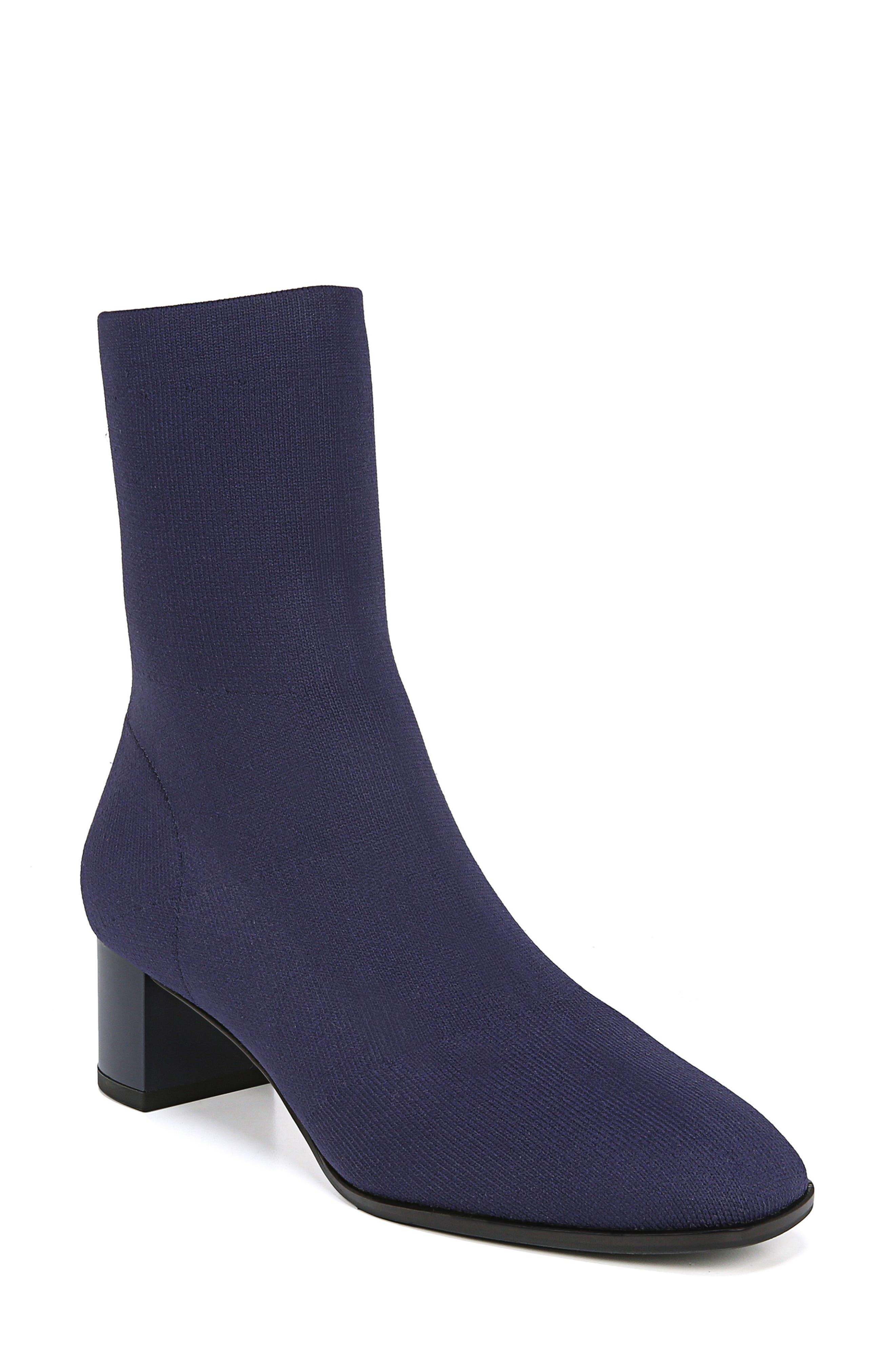VIA SPIGA Women'S Verena Stretch Knit Sock Booties in Ink