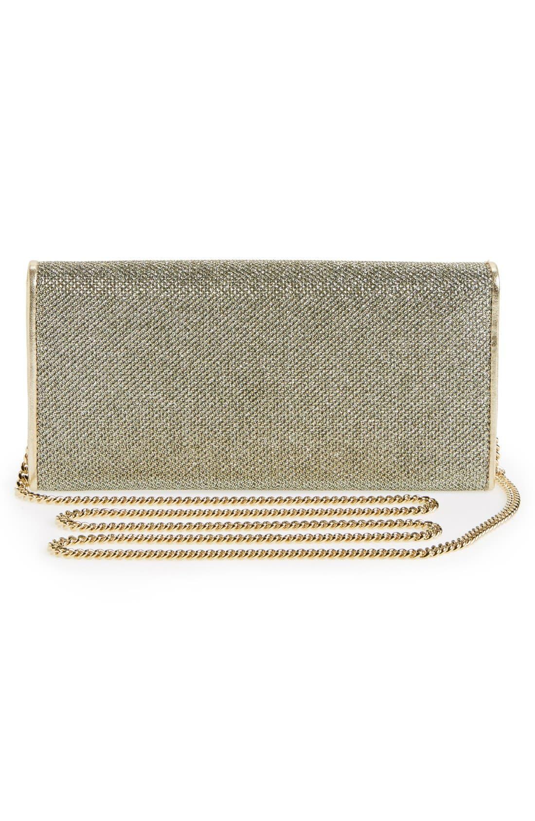 'Milla' Glitter Lamé Wallet on a Chain,                             Alternate thumbnail 14, color,