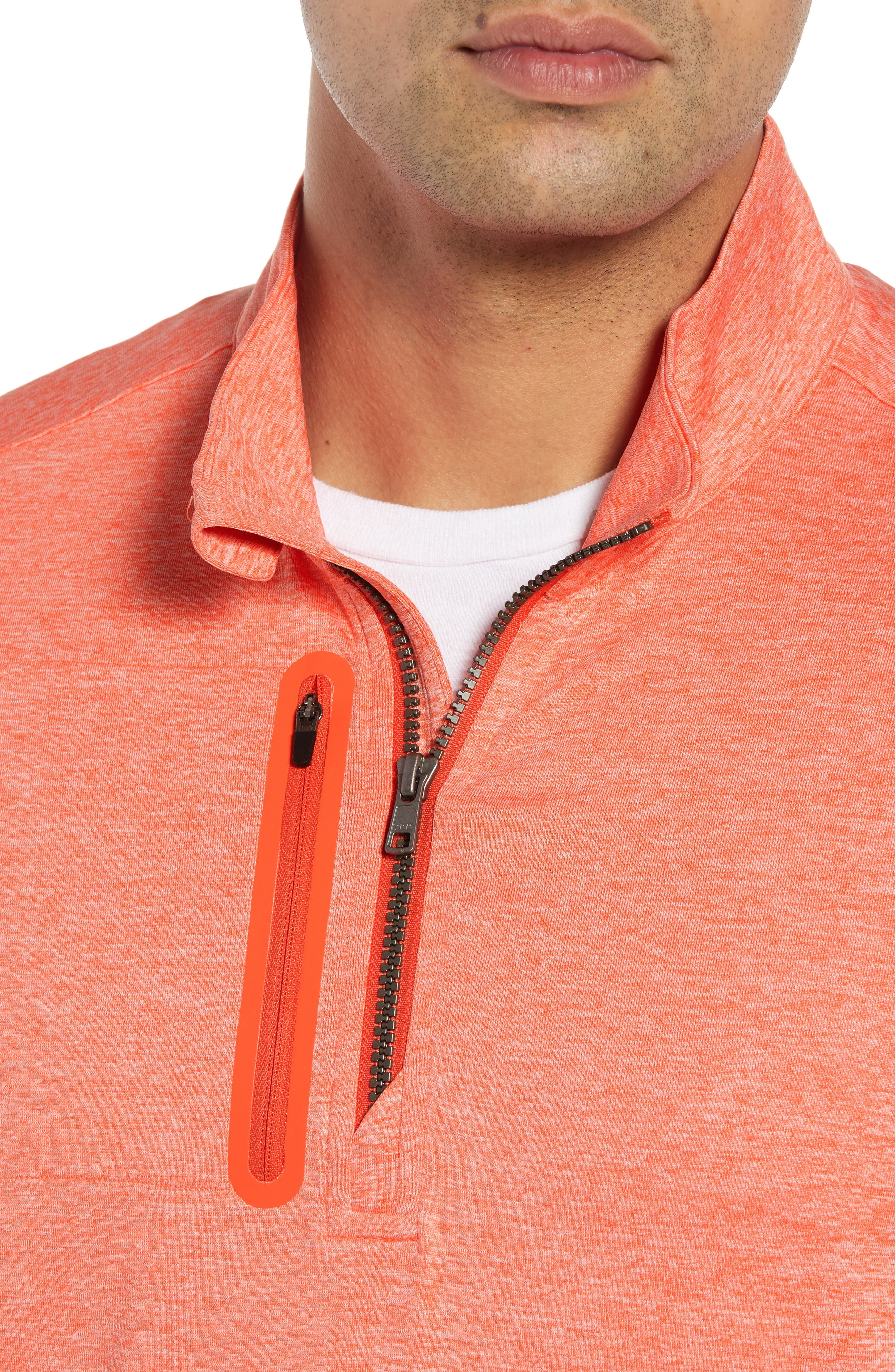 Stealth Half Zip Pullover,                             Alternate thumbnail 4, color,                             ALARM