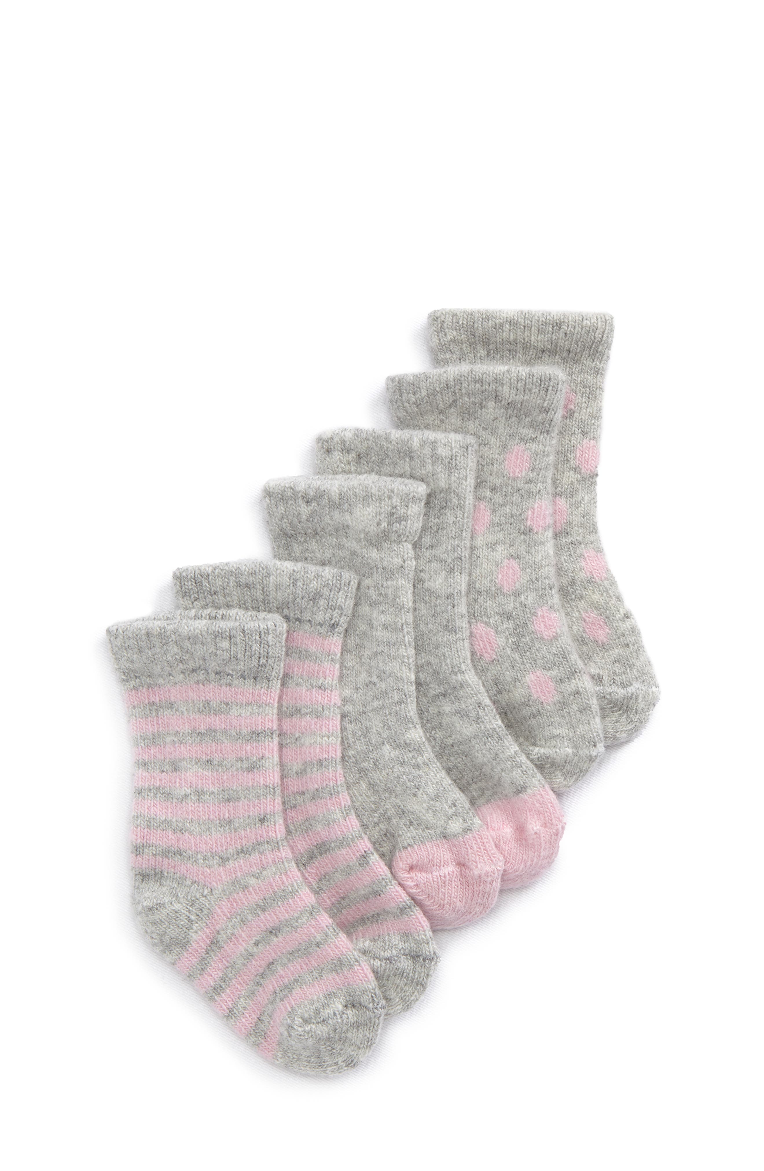 Assorted 3-Pack Wool & Cashmere Socks,                         Main,                         color, PINK