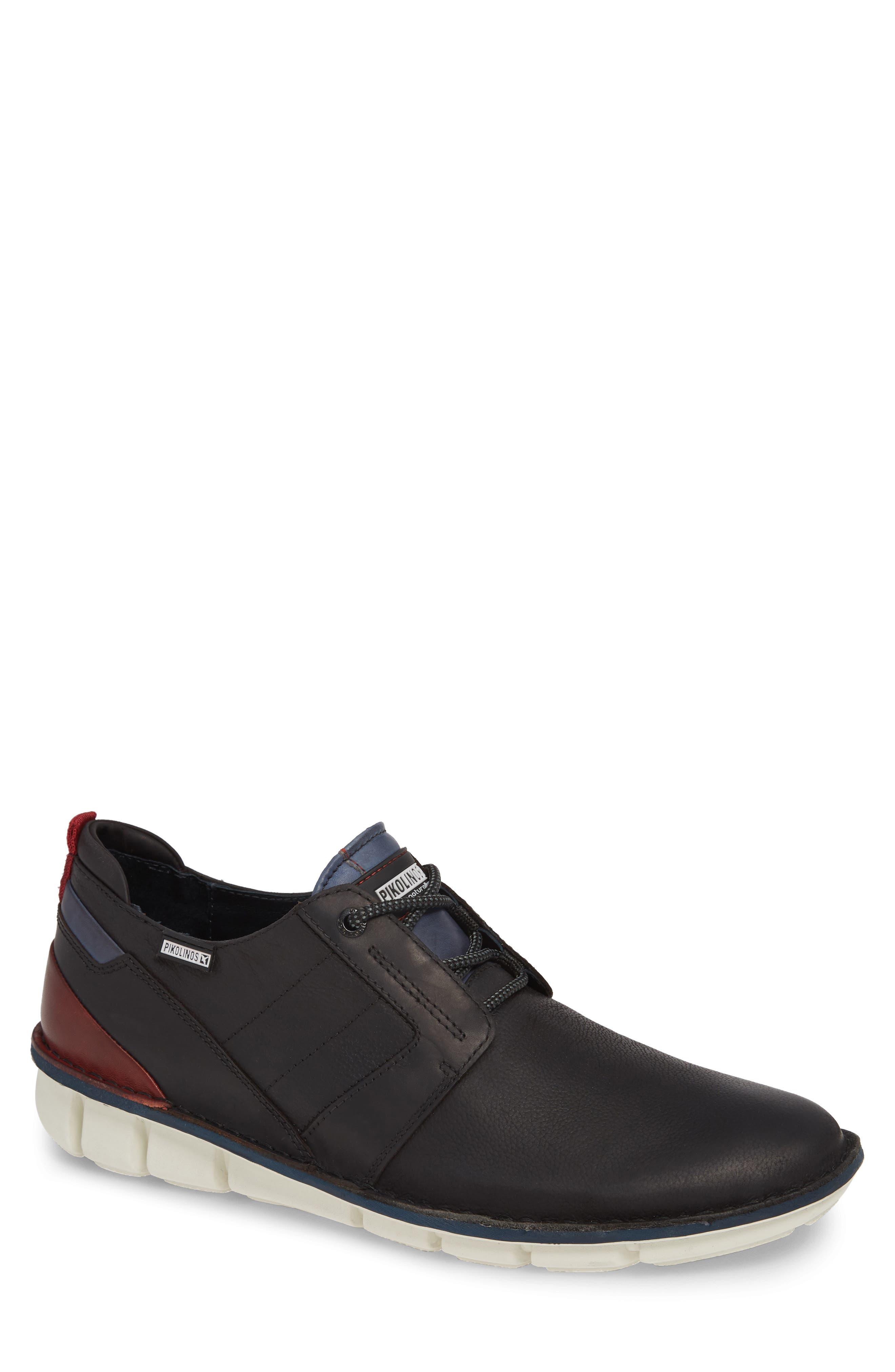 Tudela Plain Toe Derby,                             Main thumbnail 1, color,                             BLACK BLACK