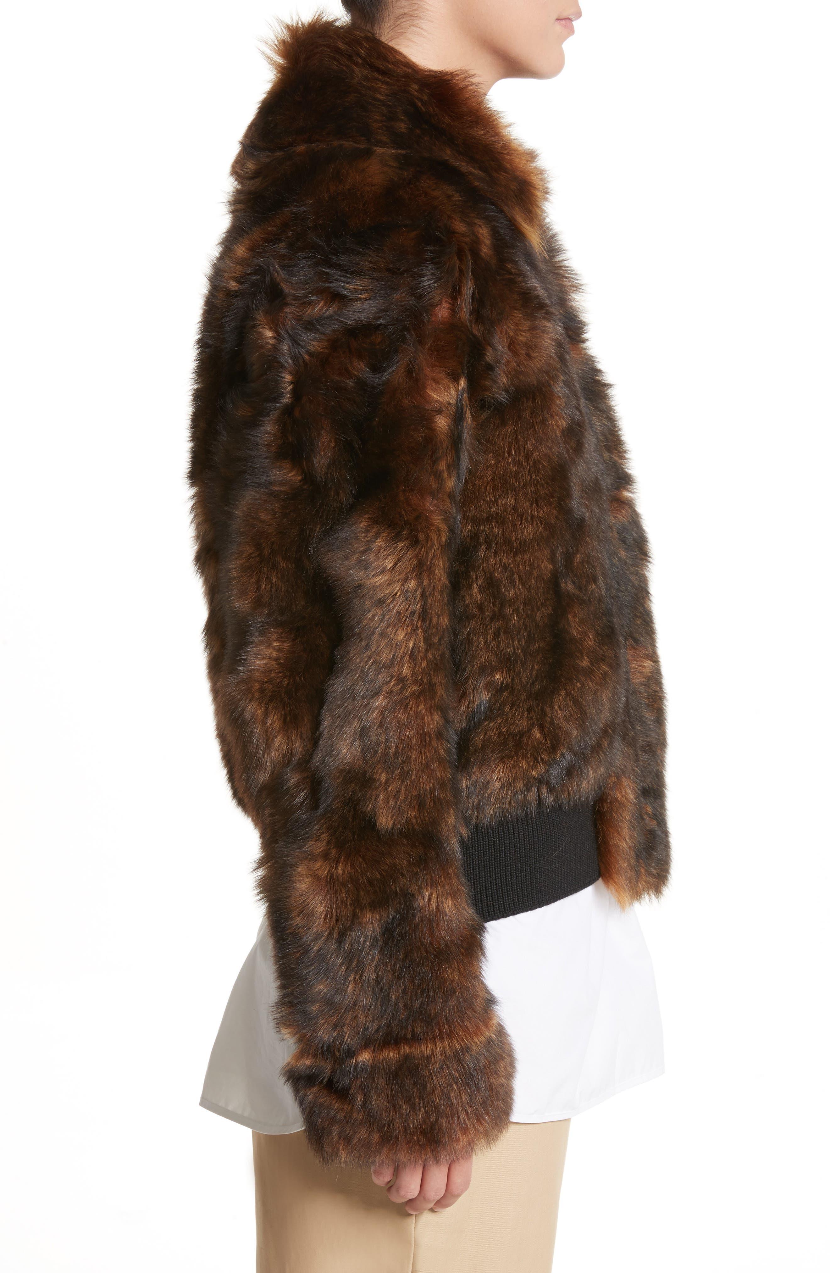Genuine Shearling Jacket,                             Alternate thumbnail 3, color,