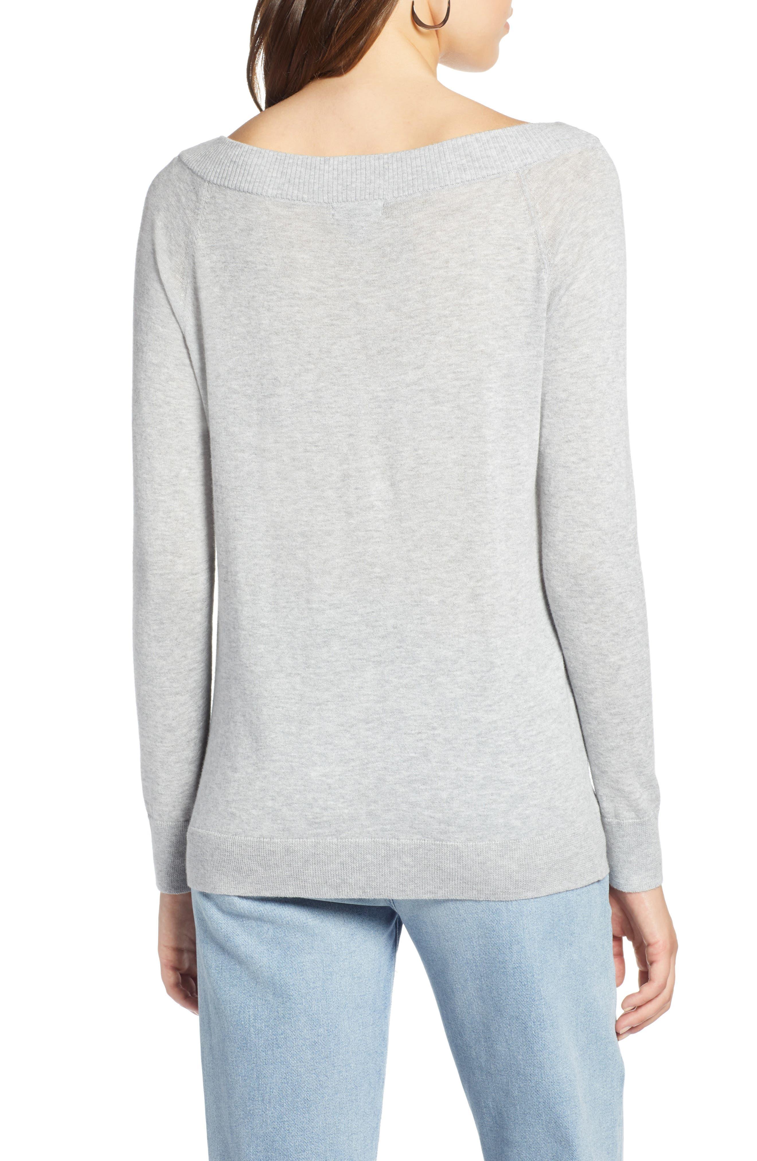 Convertible Bateau Neck Sweater,                             Alternate thumbnail 8, color,