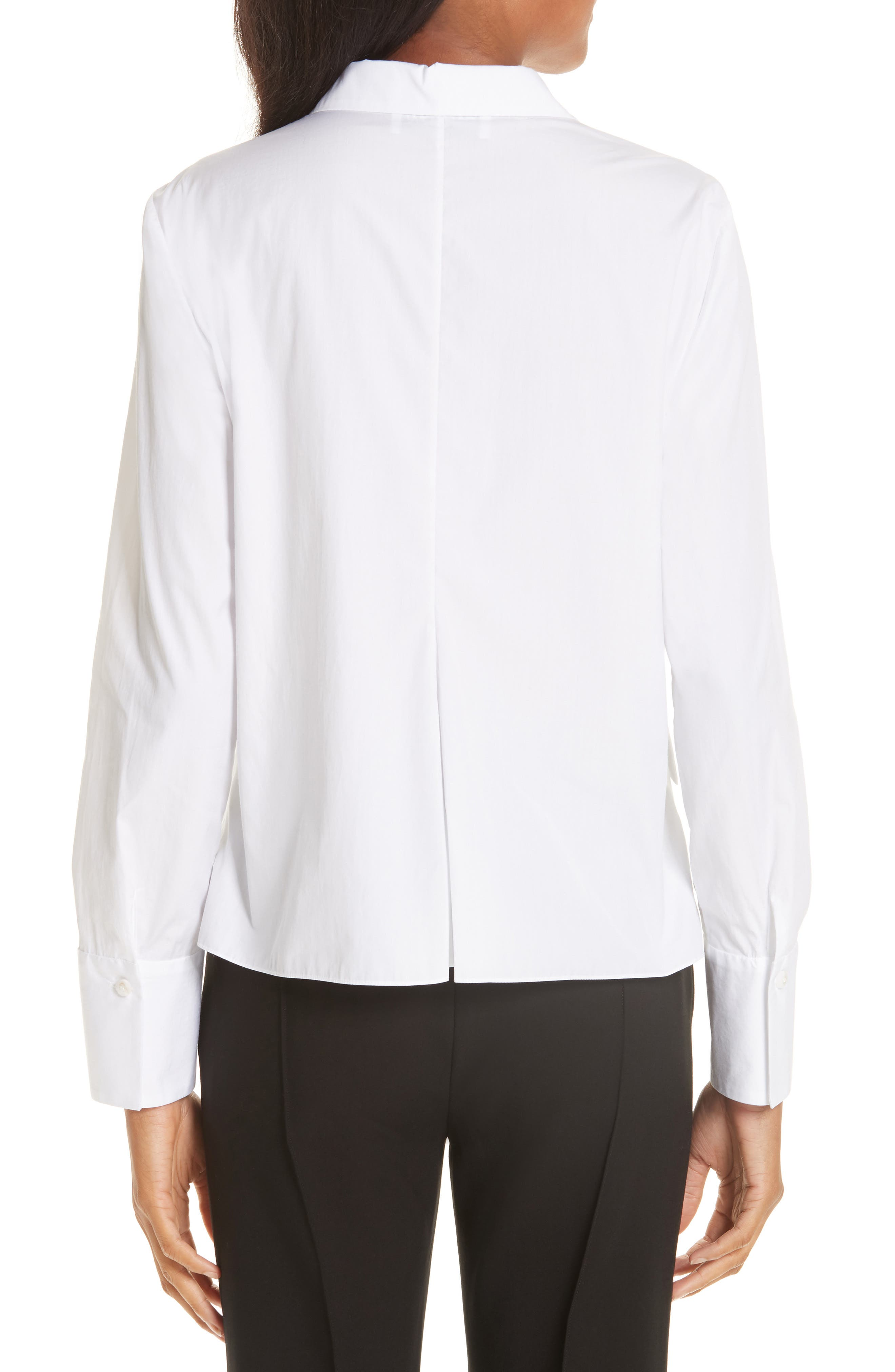 Brushed Cotton Top,                             Alternate thumbnail 2, color,                             WHITE