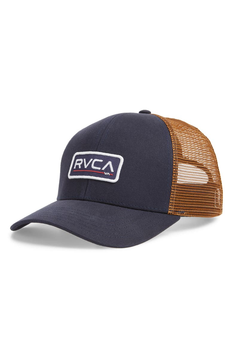 f6c50fcfa58 A classic brand patch fronts a versatile trucker hat built for breathable  comfort. Style Name  Rvca Ticket Ii Trucker Hat. Style Number  5690277.