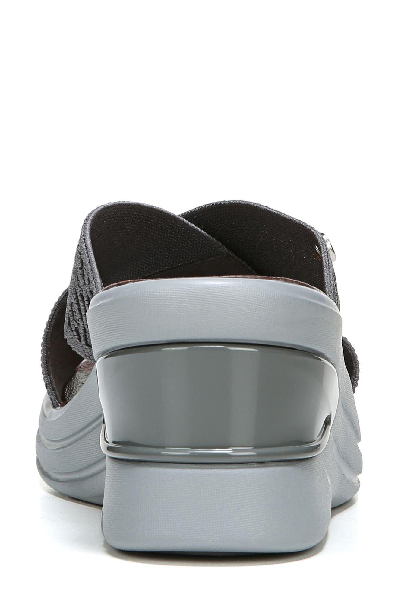Vista Slide Sandal,                             Alternate thumbnail 7, color,                             PEWTER FABRIC