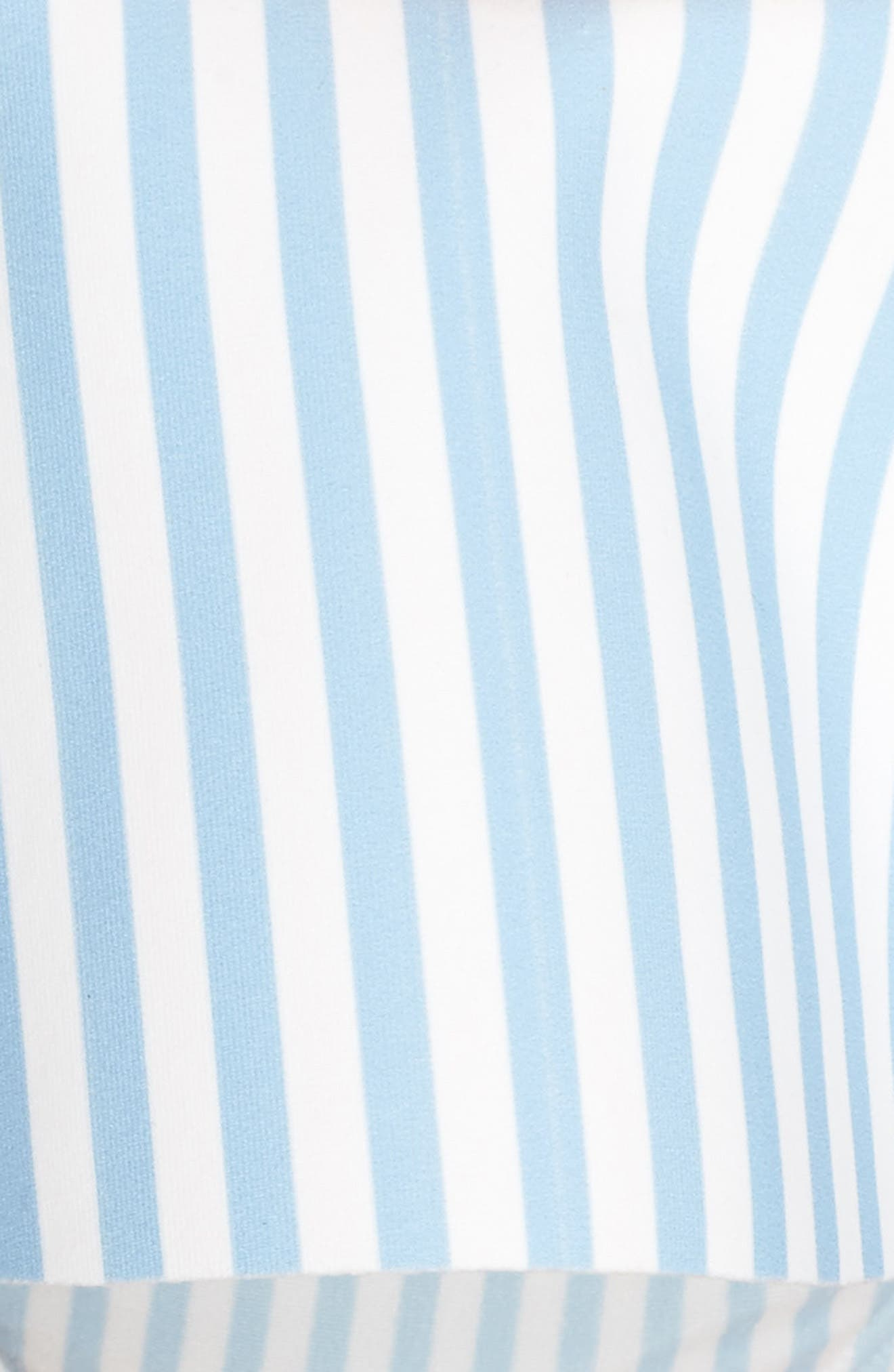 Stripe Bikini Bottoms,                             Alternate thumbnail 5, color,                             PALE BLUE