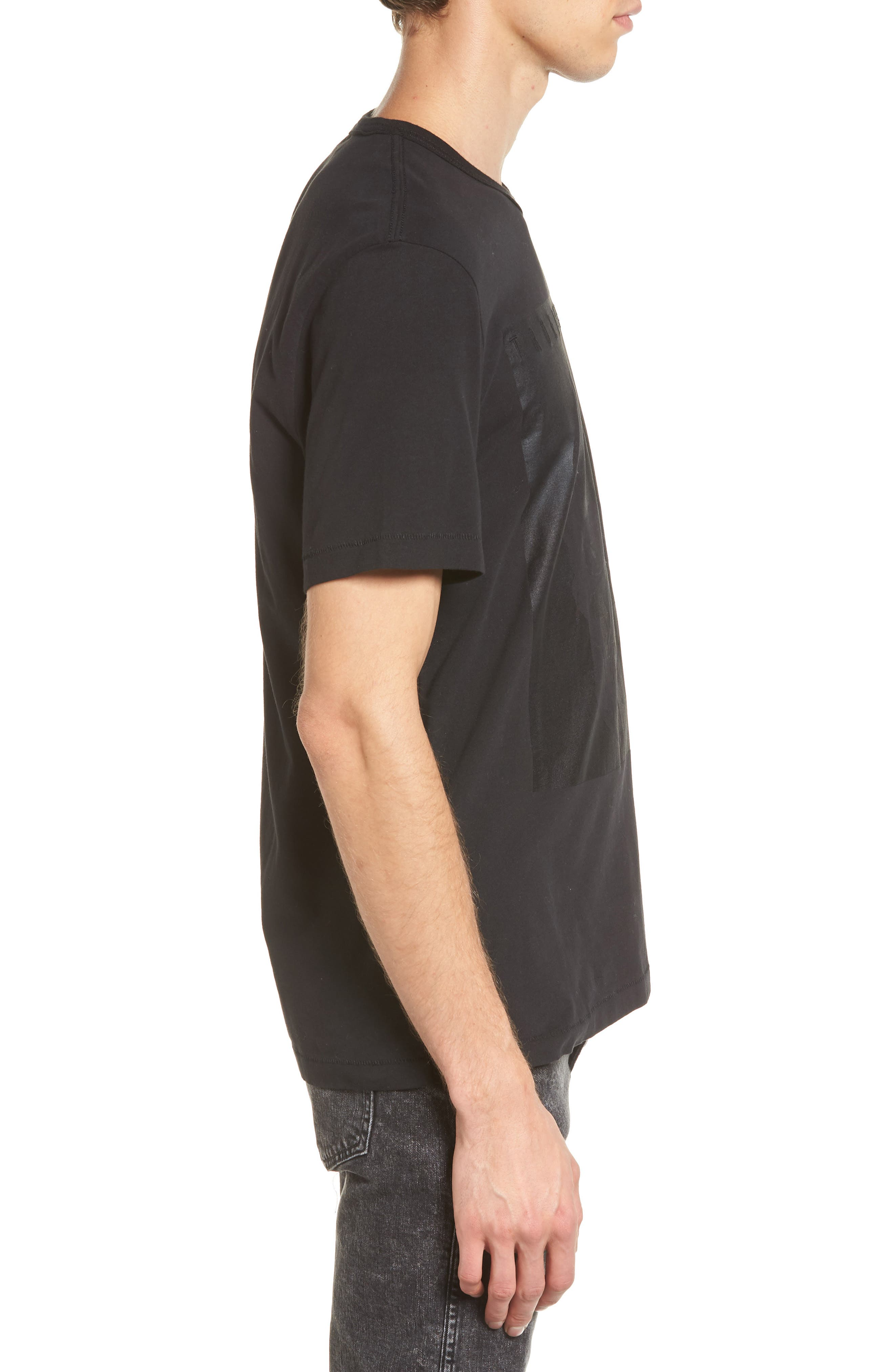 Foil Print T-Shirt,                             Alternate thumbnail 3, color,                             001