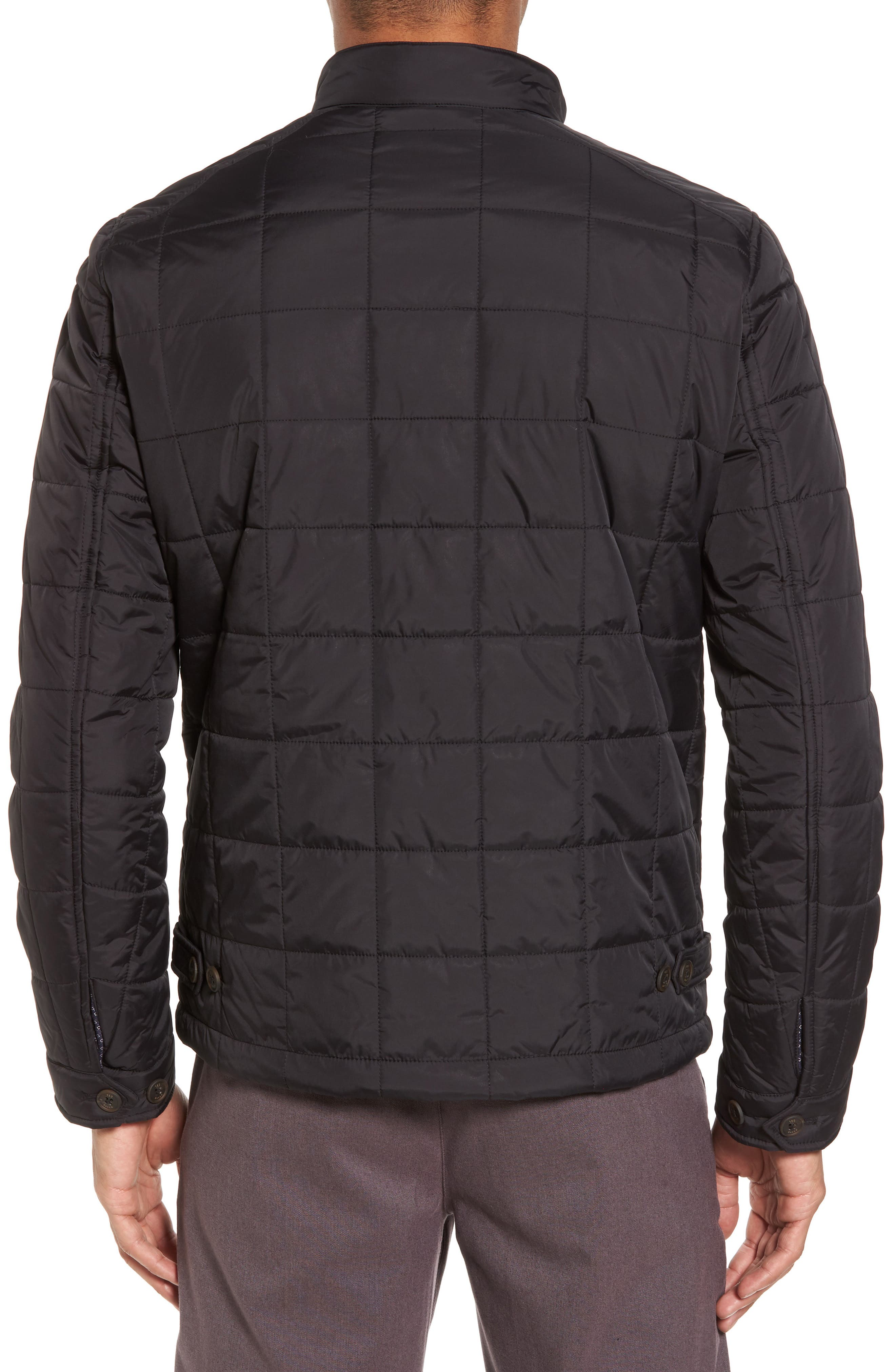 Alees Trim Fit Quilted Jacket,                             Alternate thumbnail 2, color,                             001