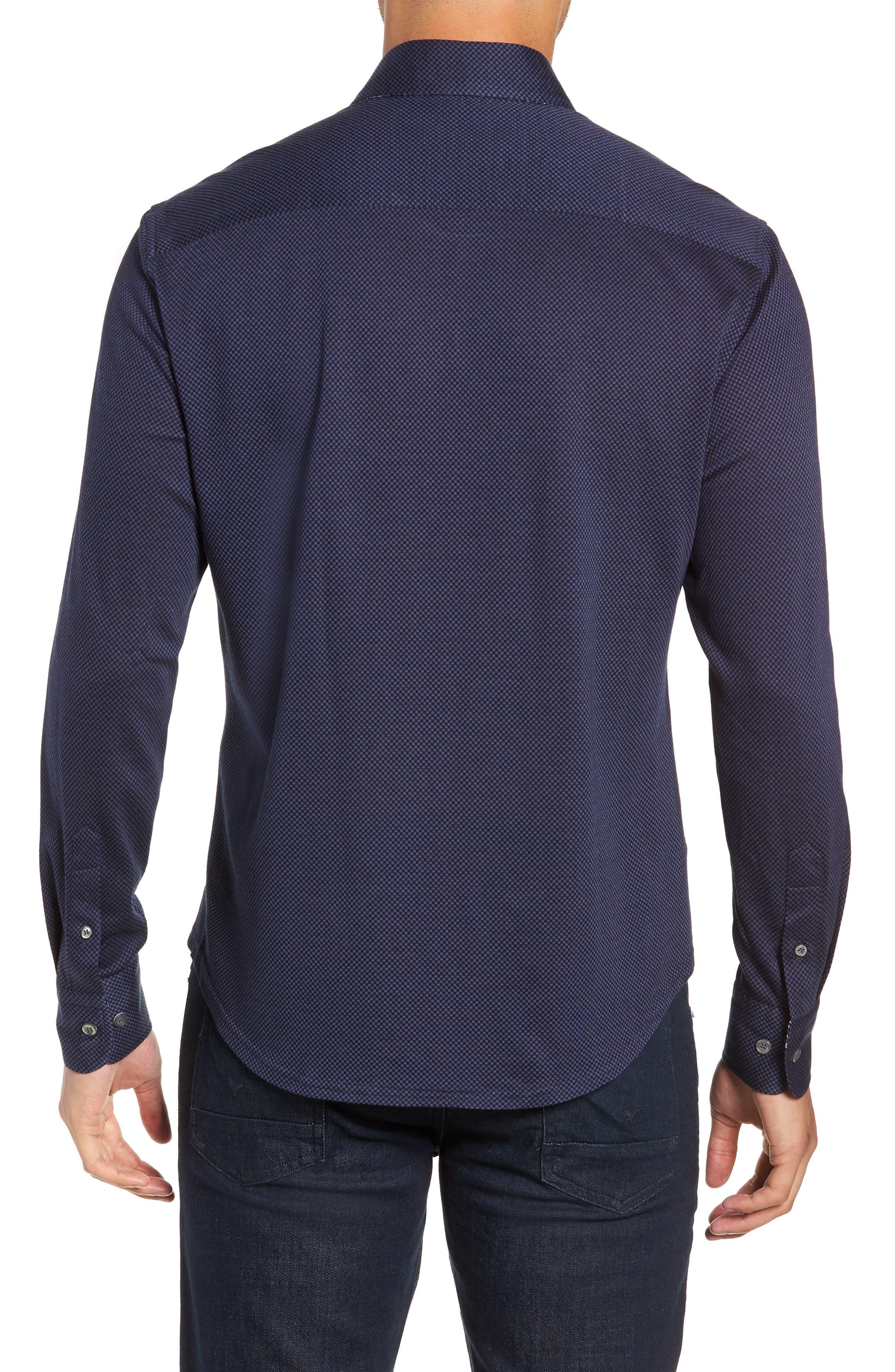 STONE ROSE,                             Trim Fit Knit Sport Shirt,                             Alternate thumbnail 3, color,                             410