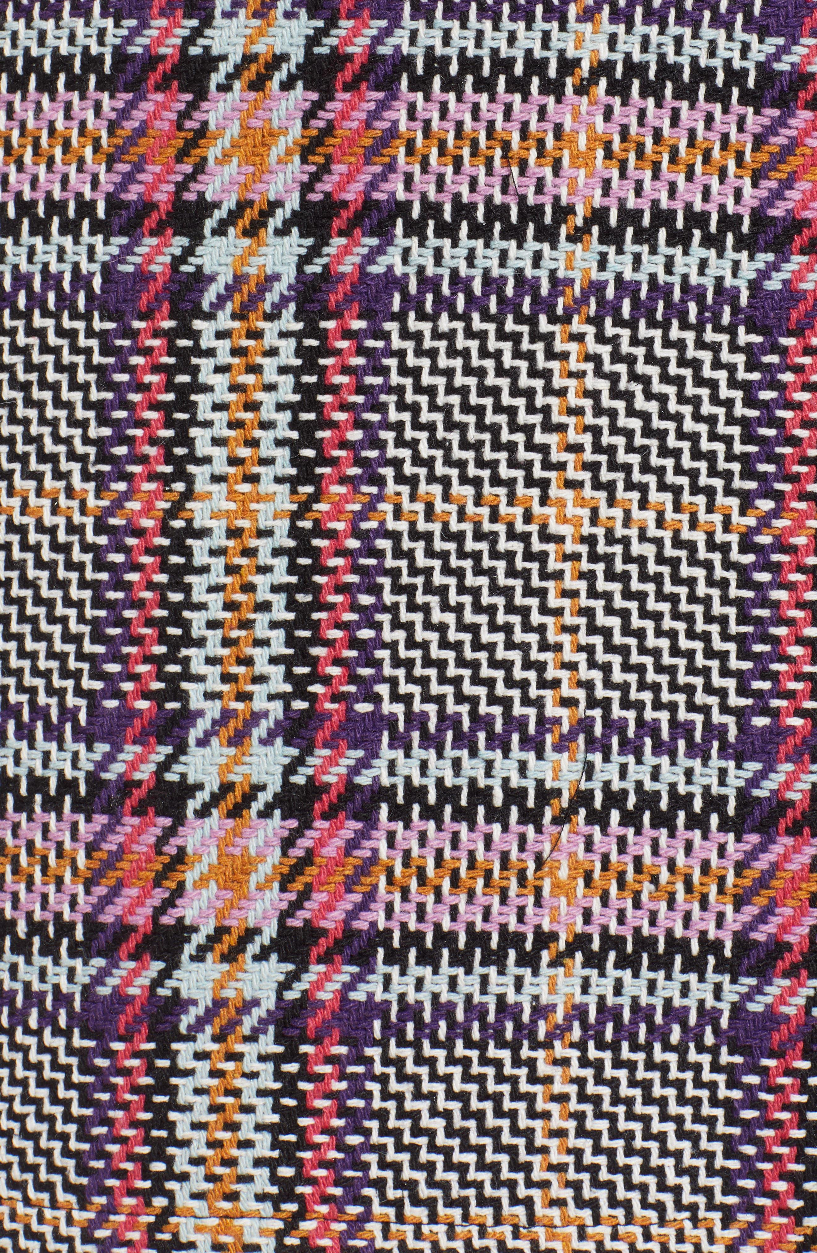 Button Detail Plaid Skirt,                             Alternate thumbnail 5, color,                             530