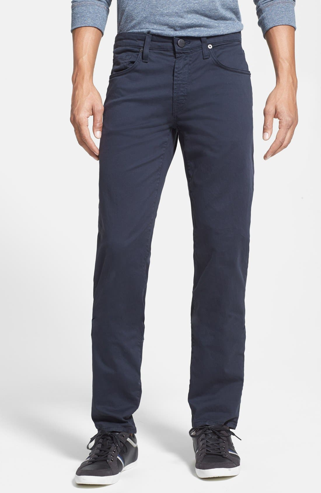 'Kane' Slim Fit Cotton Twill Pants,                             Main thumbnail 19, color,