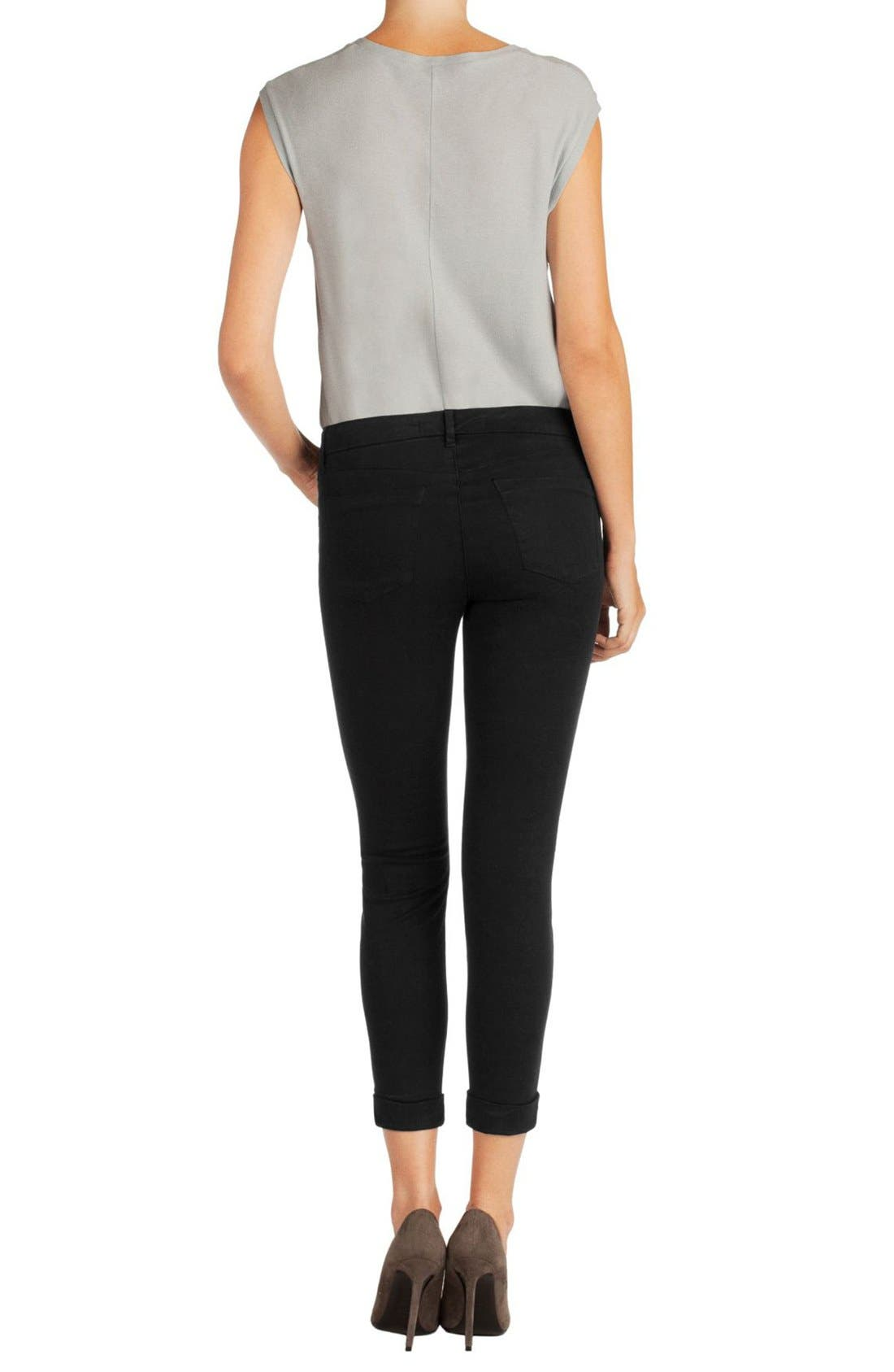'Anja' Cuffed Crop Skinny Jeans,                             Alternate thumbnail 11, color,