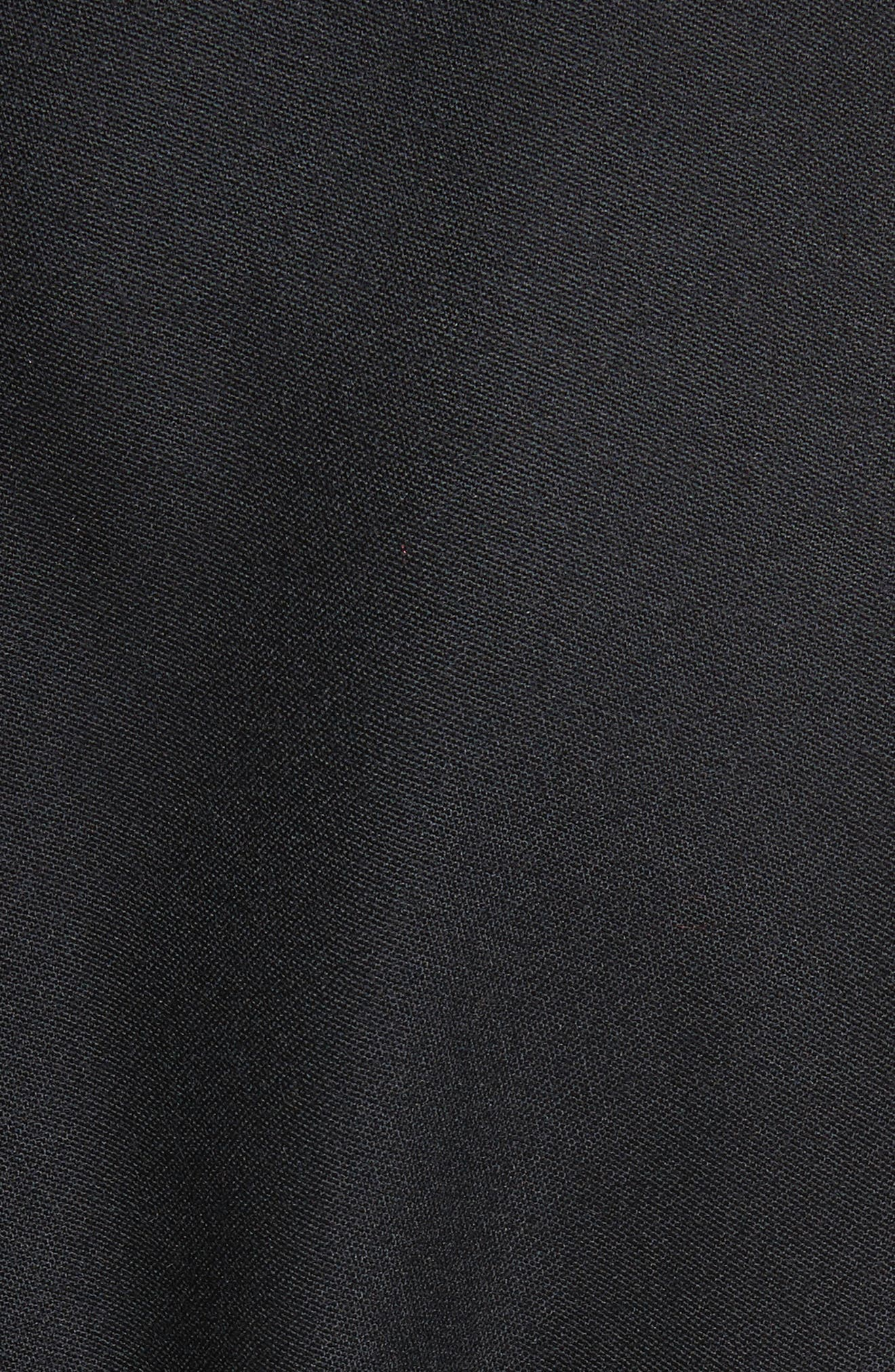Eden Alter Leather Trim Wool Coat,                             Alternate thumbnail 6, color,                             001
