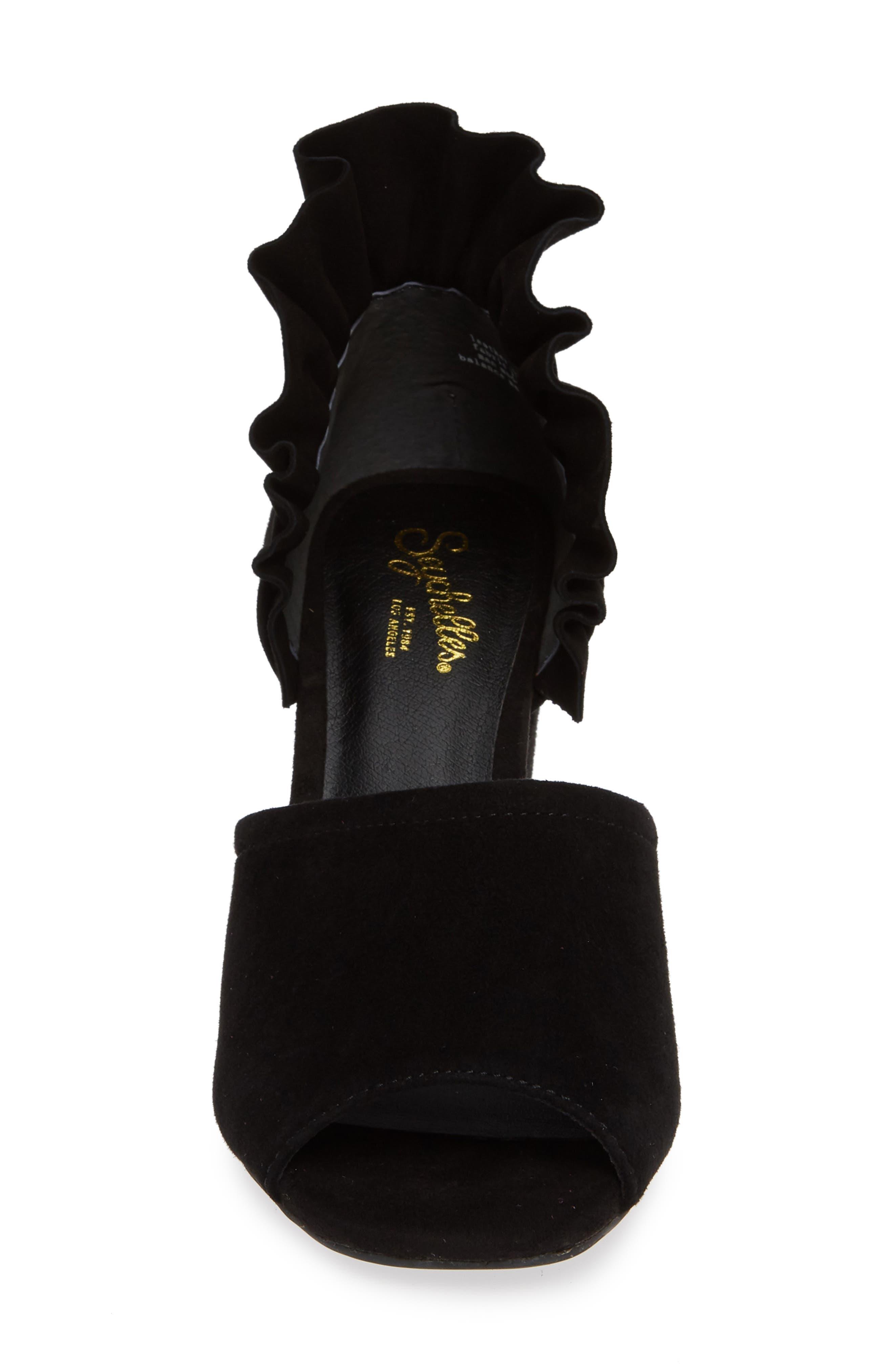 Tropical Sandal,                             Alternate thumbnail 4, color,                             BLACK SUEDE