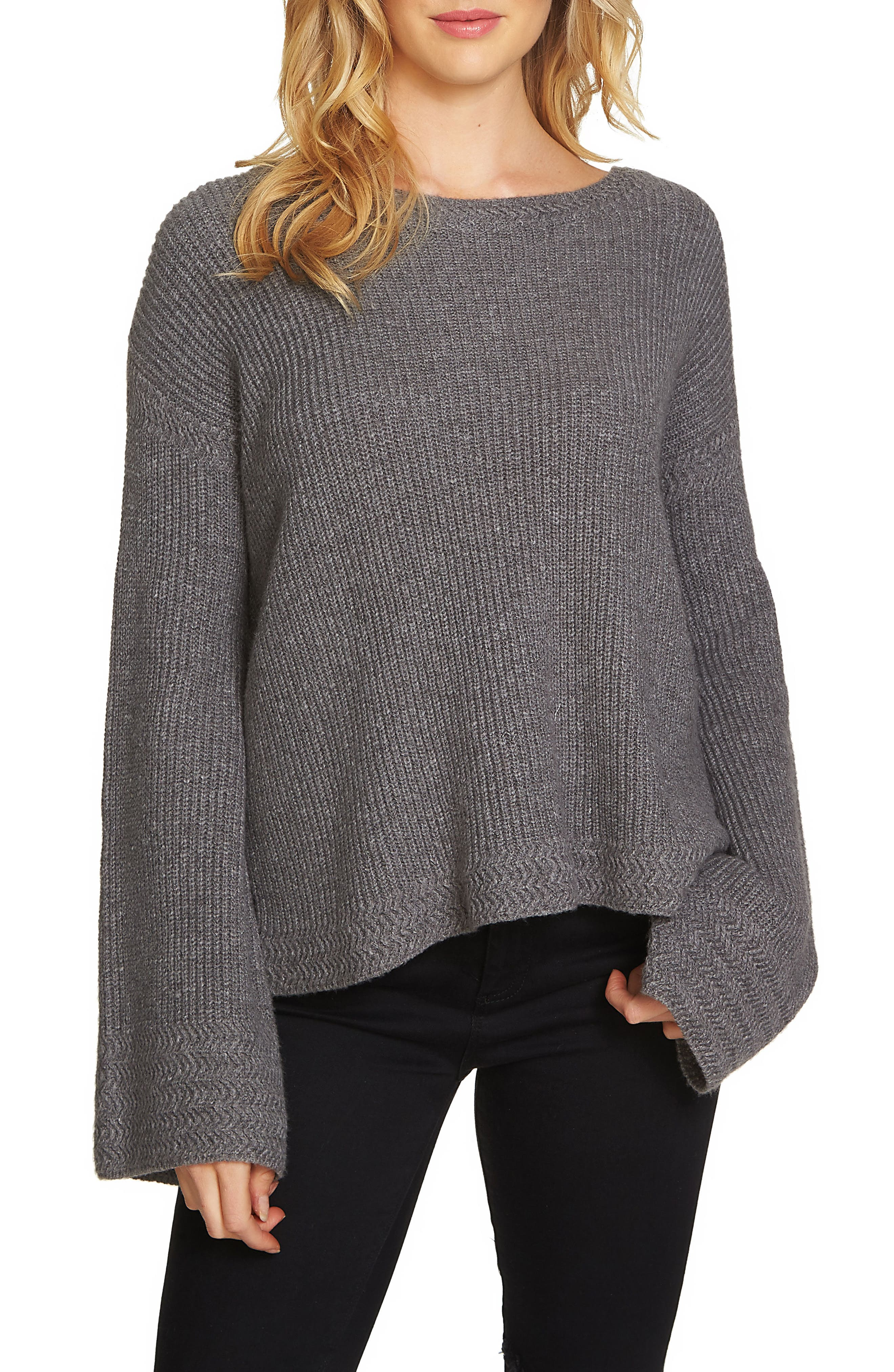 Bell Sleeve Sweater,                         Main,                         color, 021