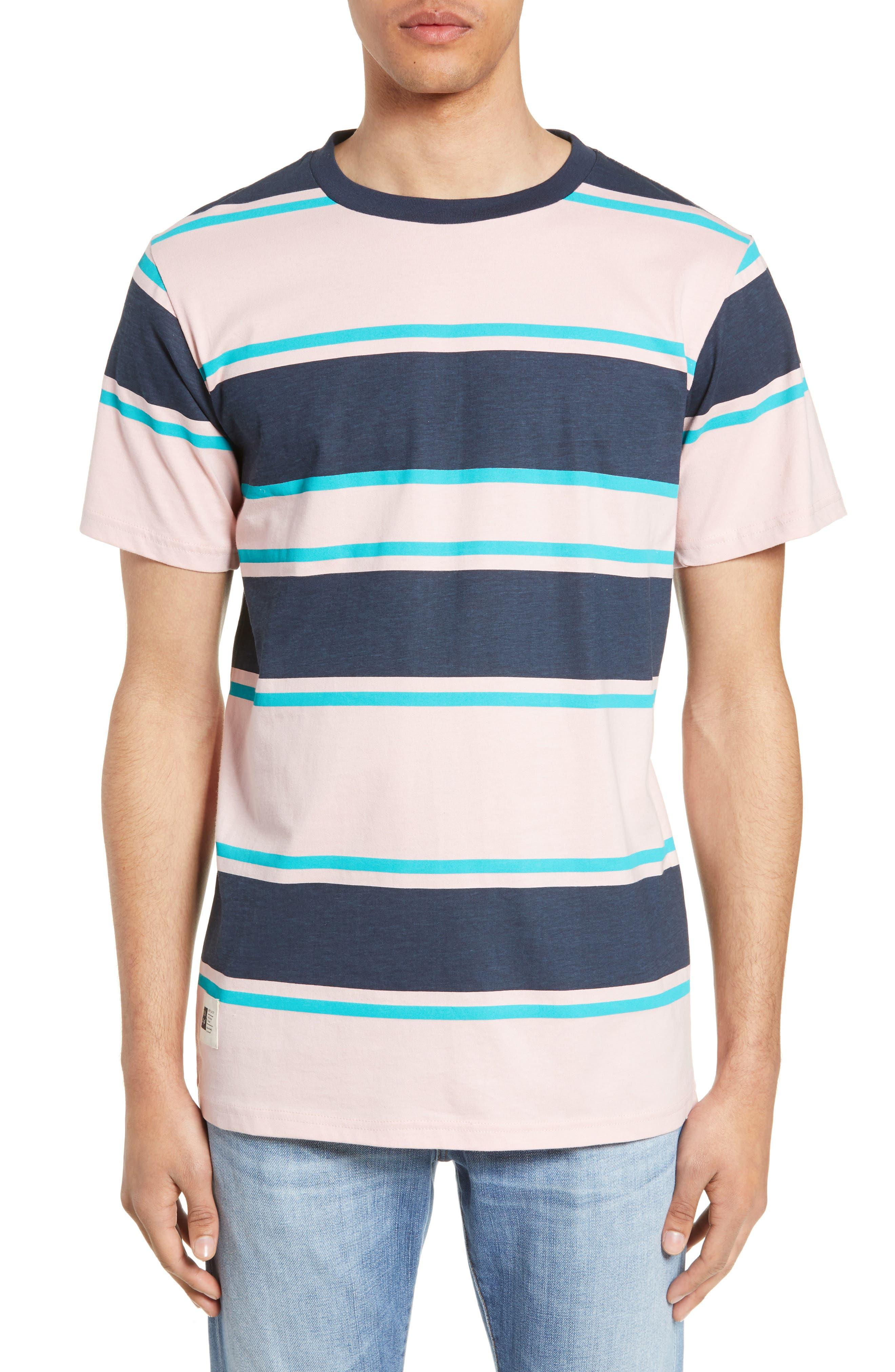Lira Clothing Clickstripe T-Shirt, Pink