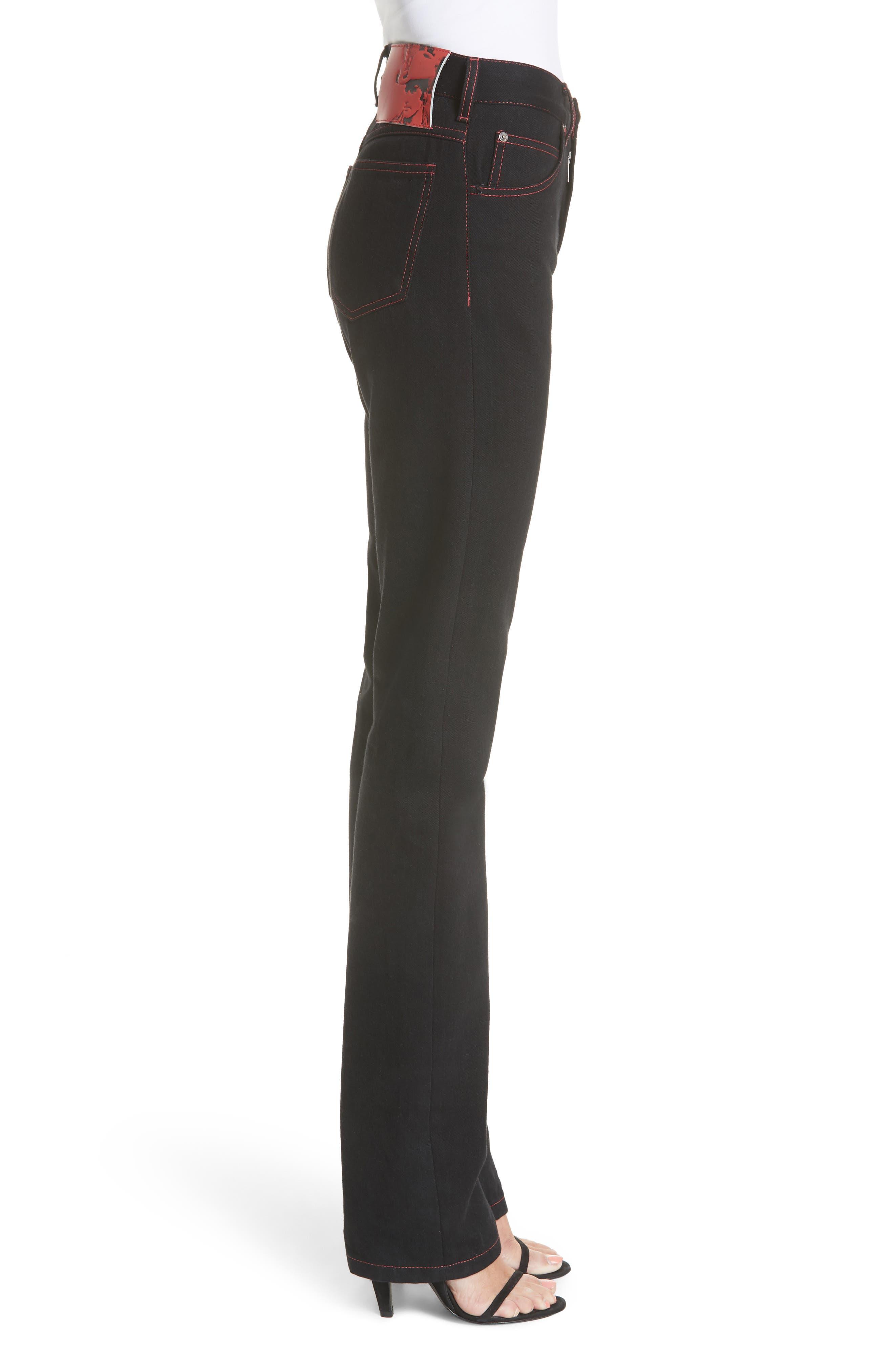 x Andy Warhol Foundation Dennis Hopper Straight Leg Jeans,                             Alternate thumbnail 3, color,                             BLACK