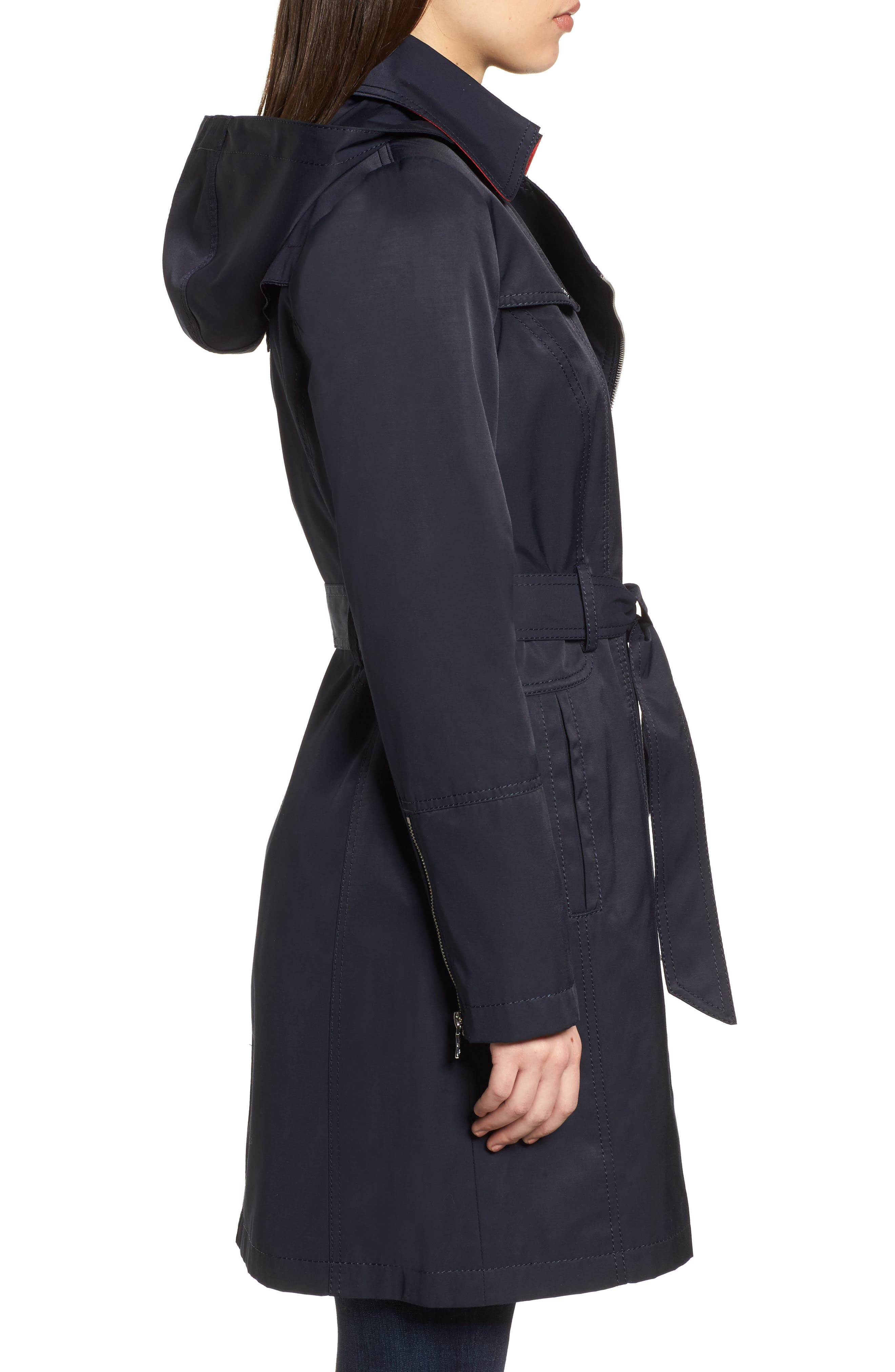 Belted Asymmetrical Trench Coat,                             Alternate thumbnail 9, color,