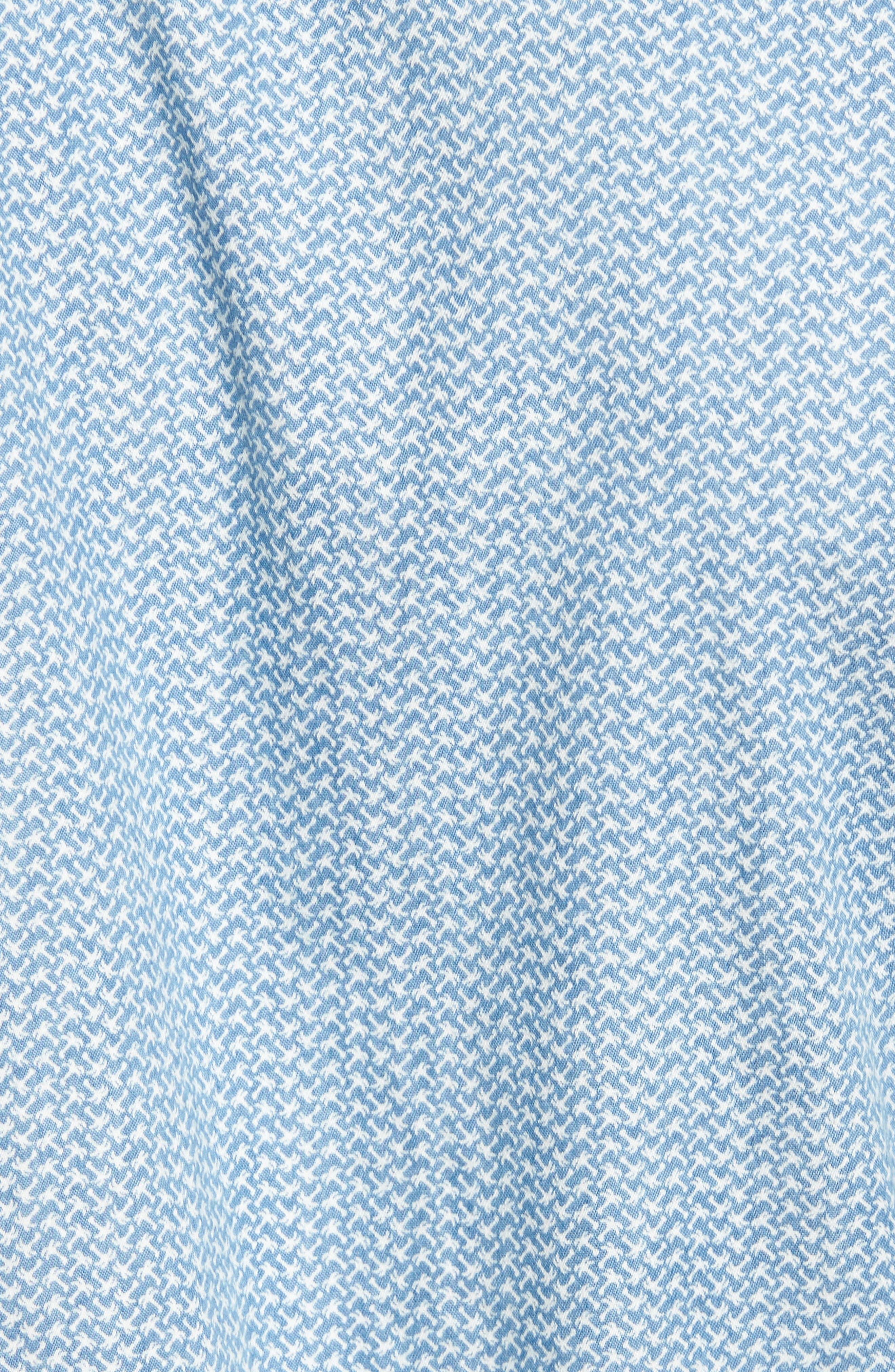 Print Woven Shirt,                             Alternate thumbnail 5, color,                             420