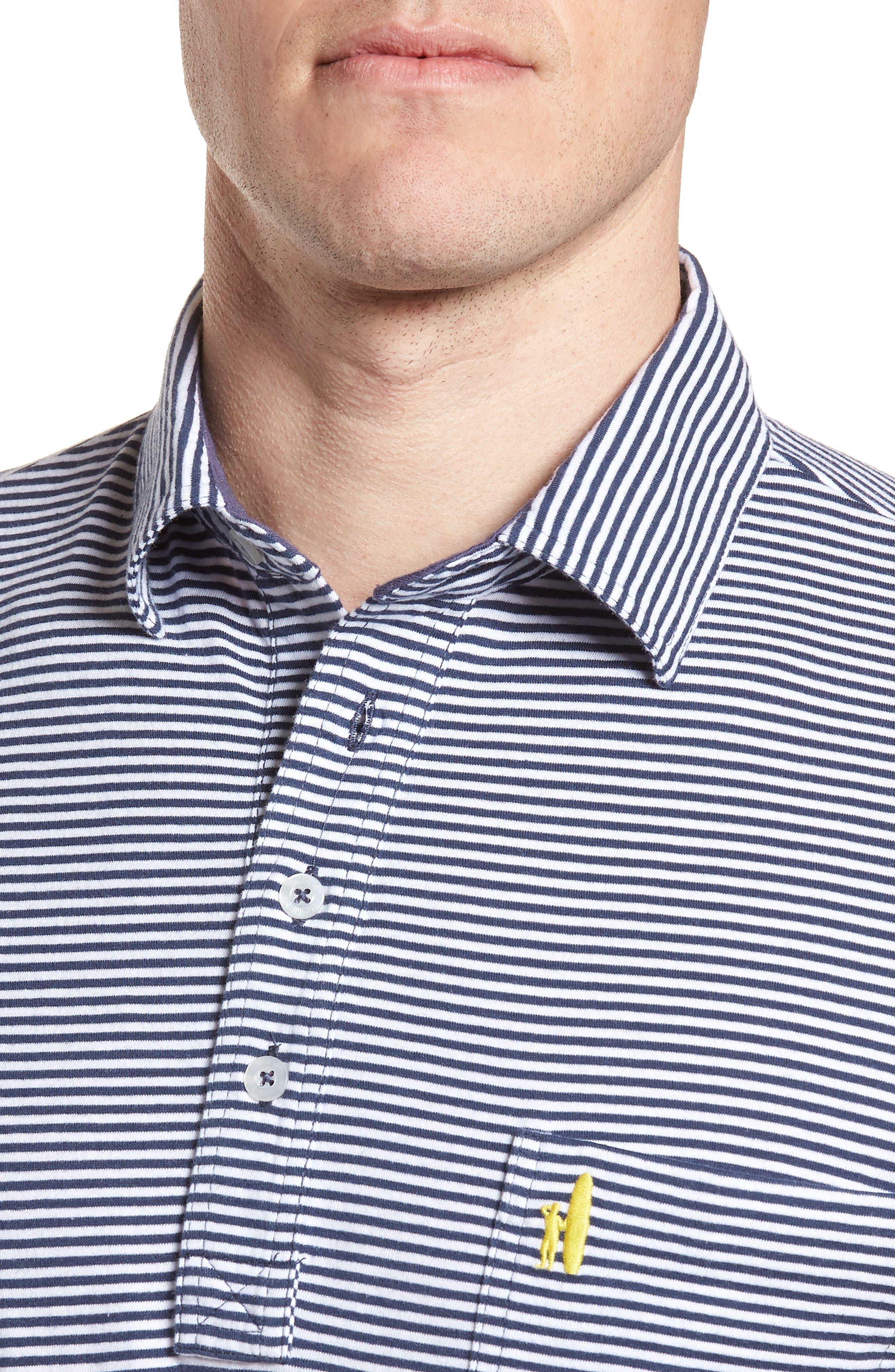 Jack Stripe Jersey Polo,                             Alternate thumbnail 4, color,                             PACIFIC