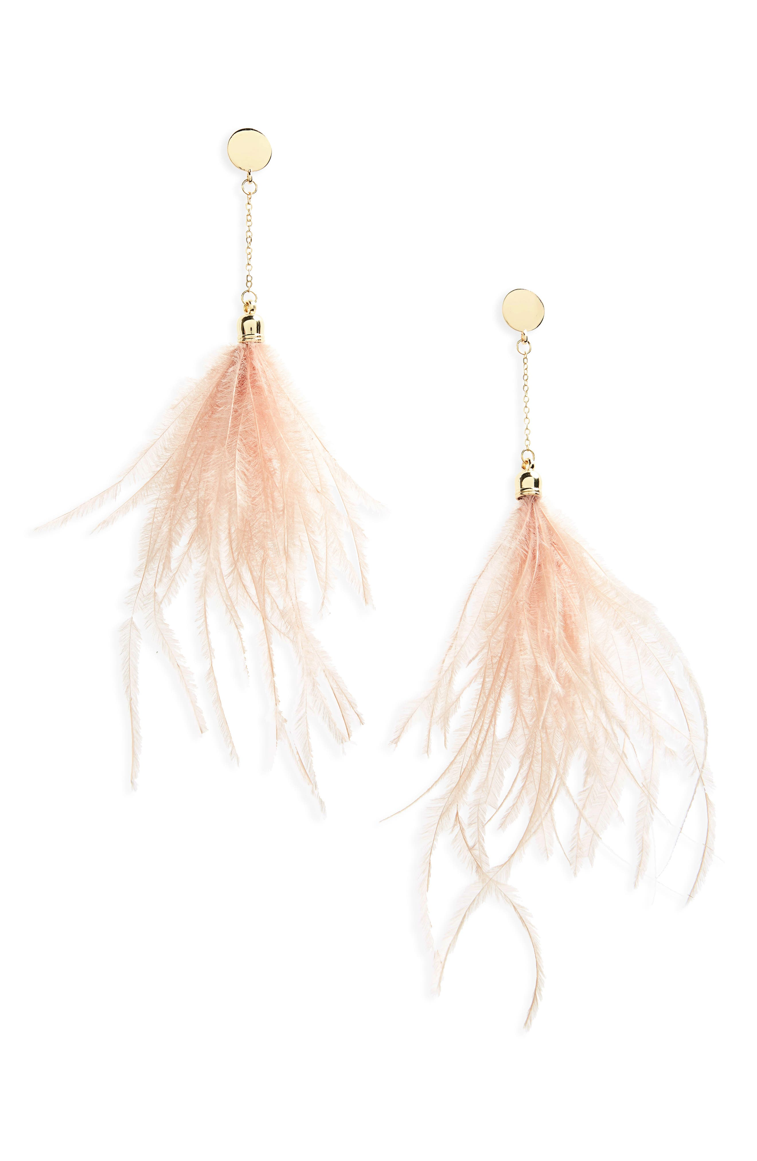 Feather Shoulder Duster Earrings,                             Main thumbnail 2, color,