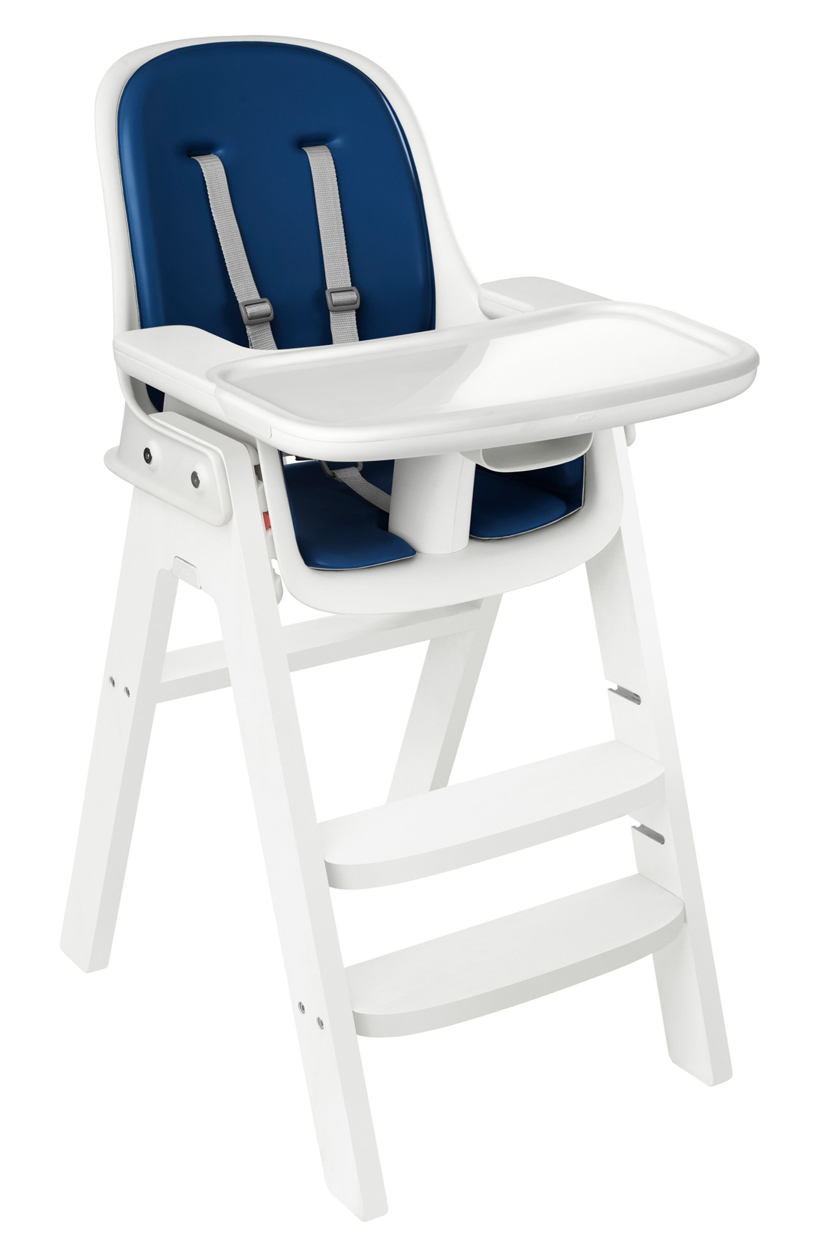 'Sprout' Chair,                         Main,                         color, NAVY/ WHITE