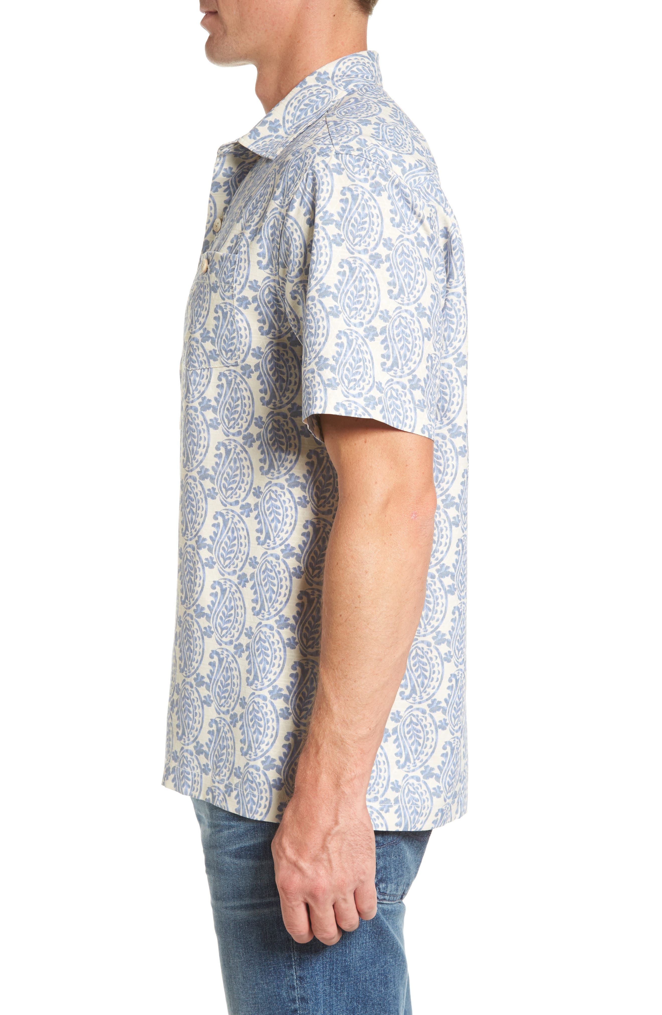Paisley Days Woven Shirt,                             Alternate thumbnail 3, color,                             100