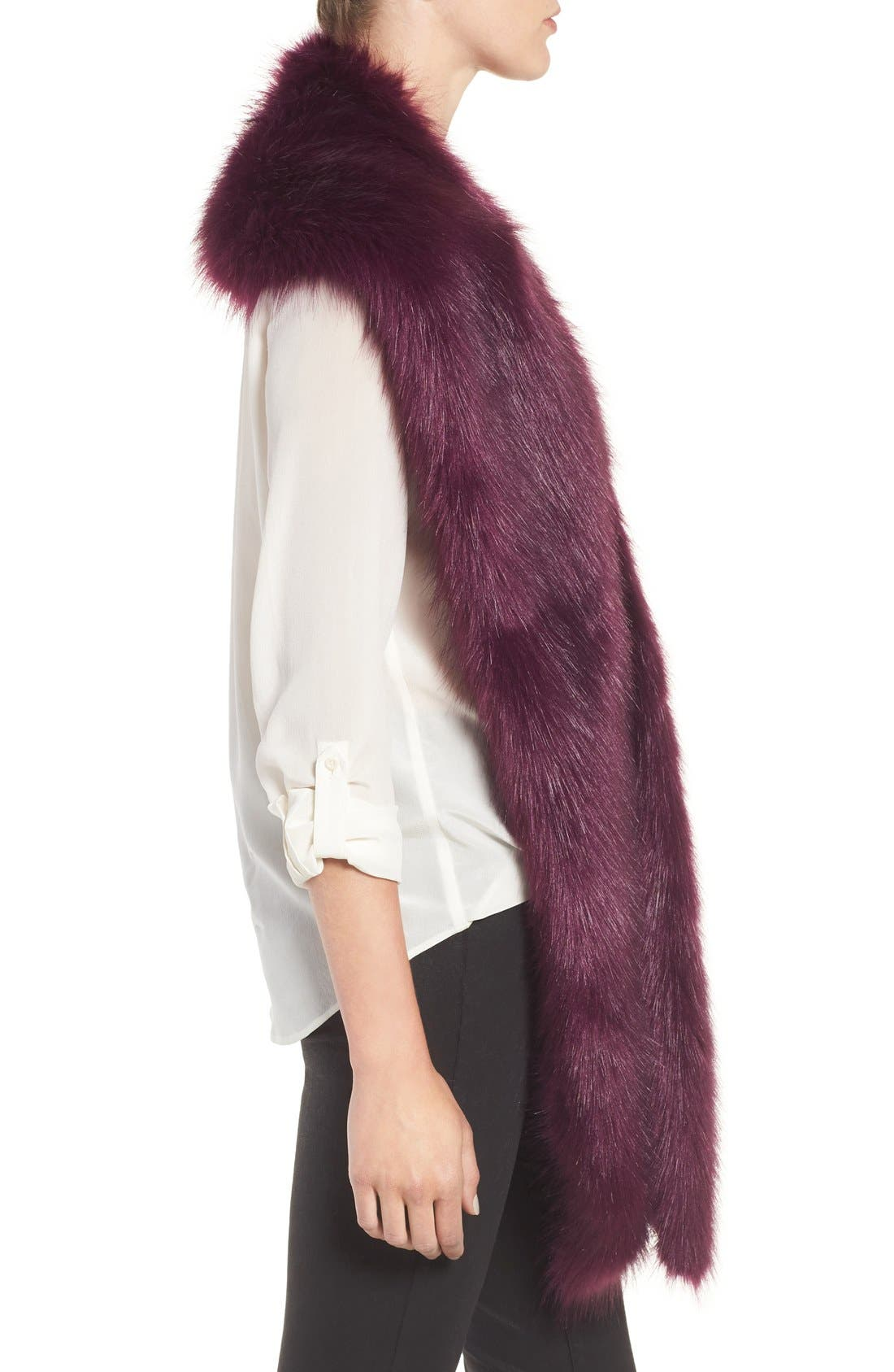 Faux Mink Stole,                             Alternate thumbnail 15, color,