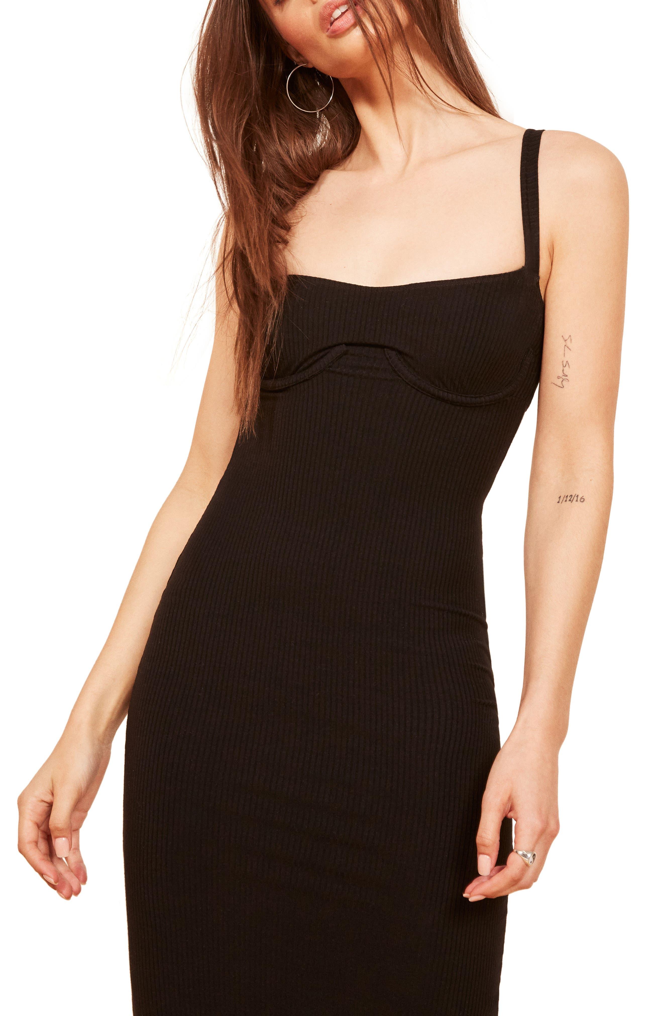 Jayne Bustier Body-Con Dress,                         Main,                         color, 001