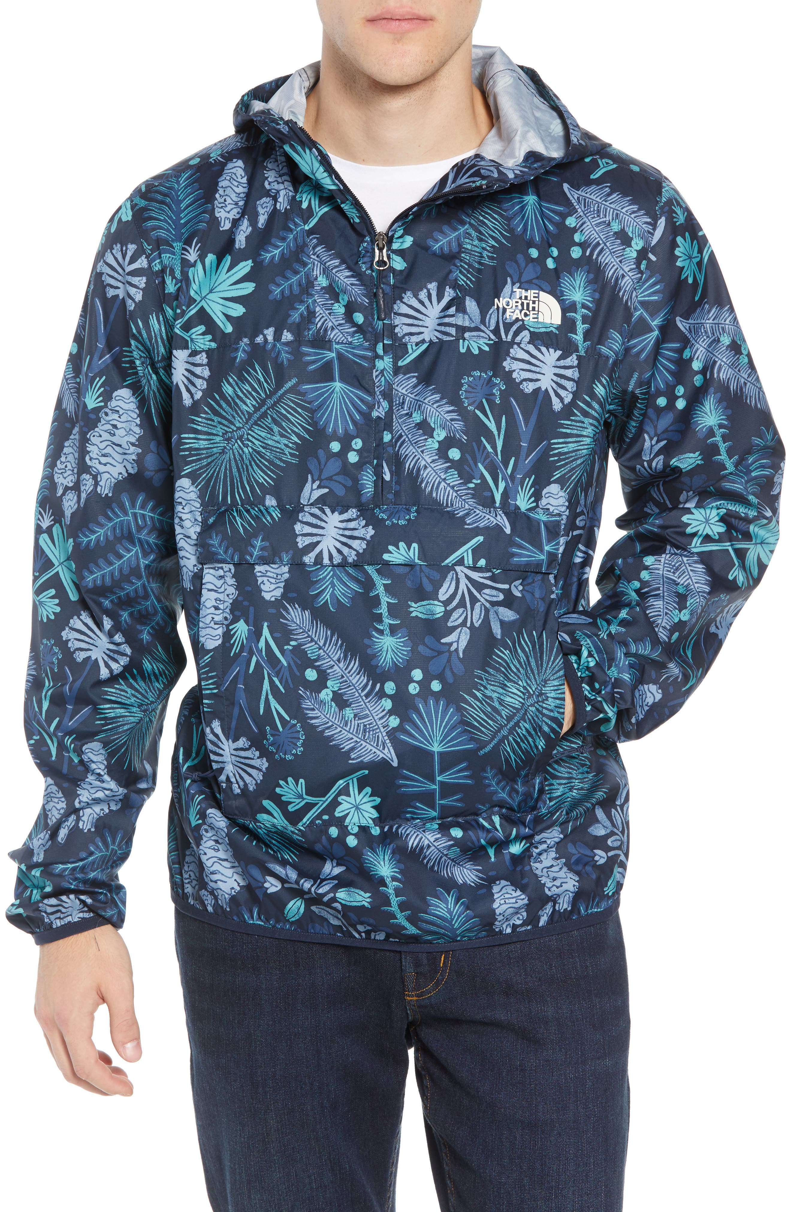 Fanorak Pullover, Main, color, URBAN NAVY WOODLAND
