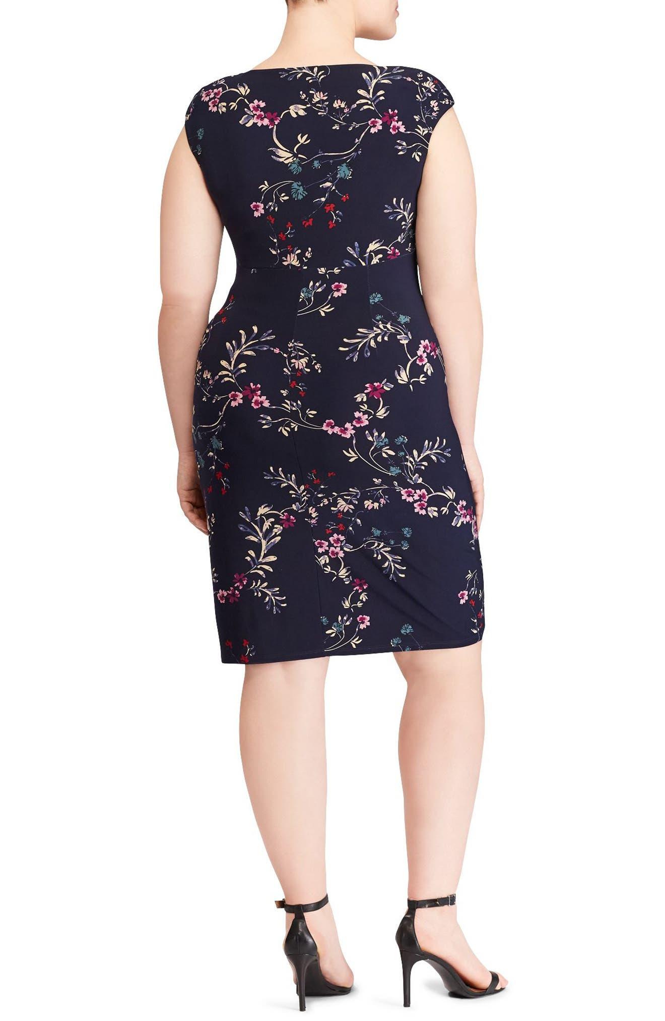 Adara Floral Jersey Dress,                             Alternate thumbnail 2, color,                             410
