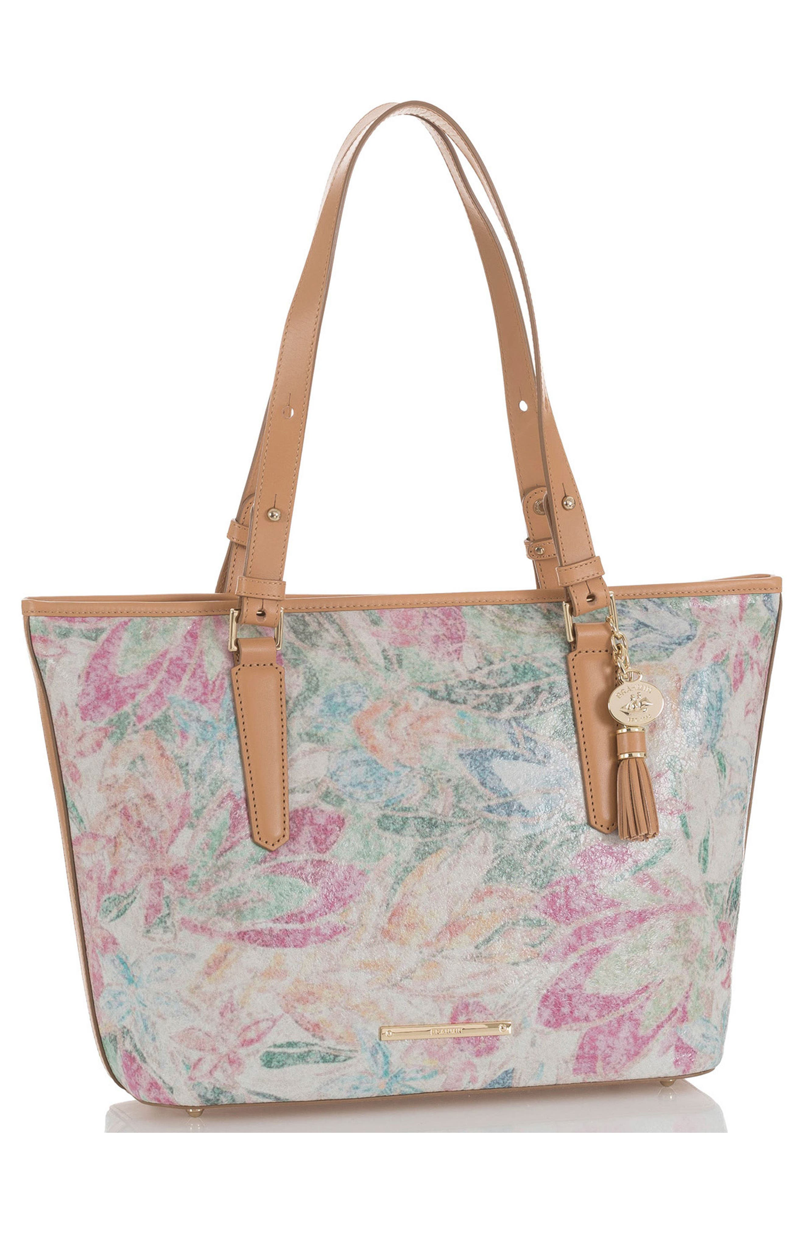 Floral Medium Asher Tote,                             Alternate thumbnail 4, color,                             250