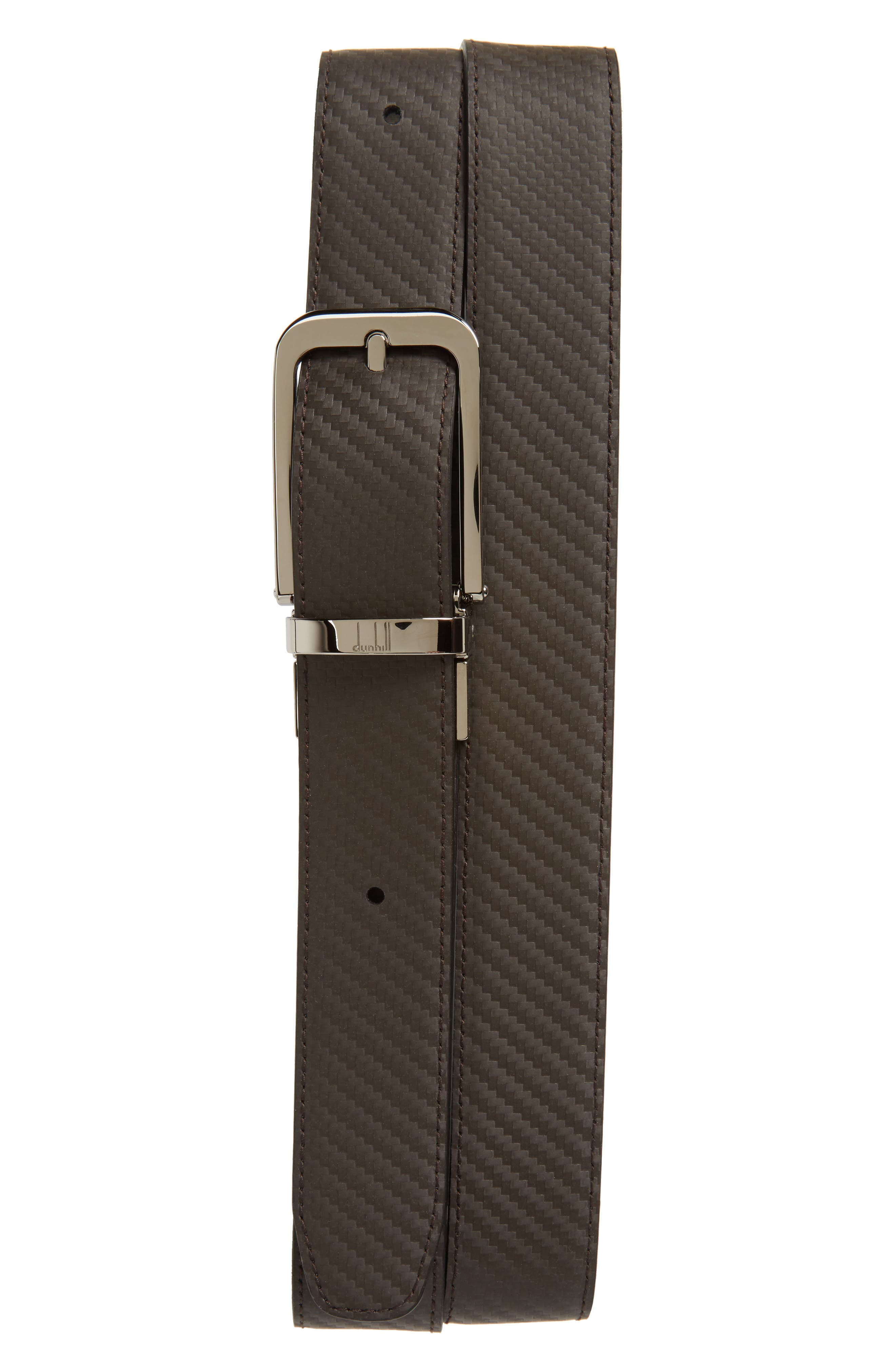 Twist Round Chass Reversible Leather Belt,                             Alternate thumbnail 2, color,                             001