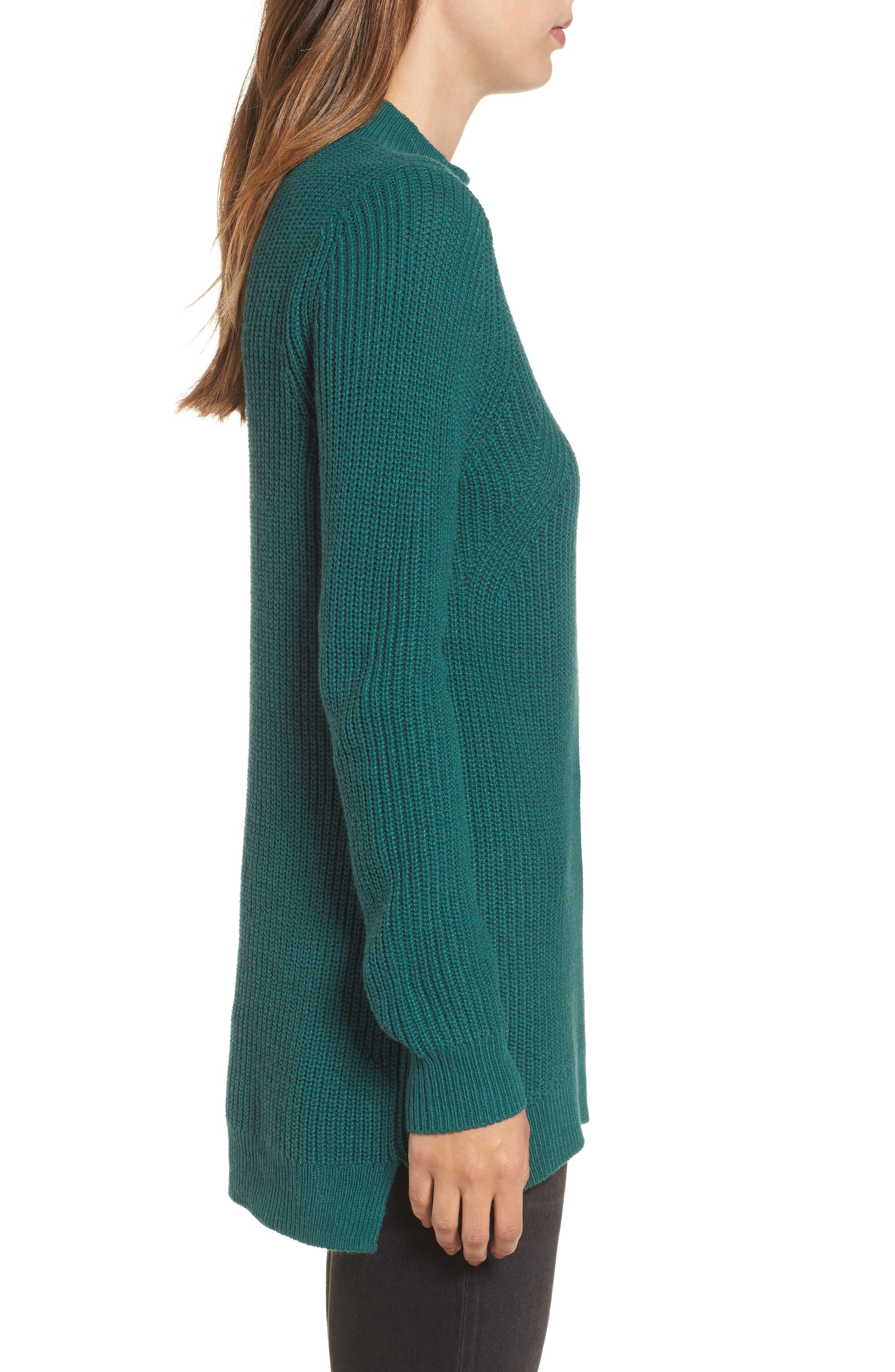 Mock Neck Tunic Sweater,                             Alternate thumbnail 18, color,