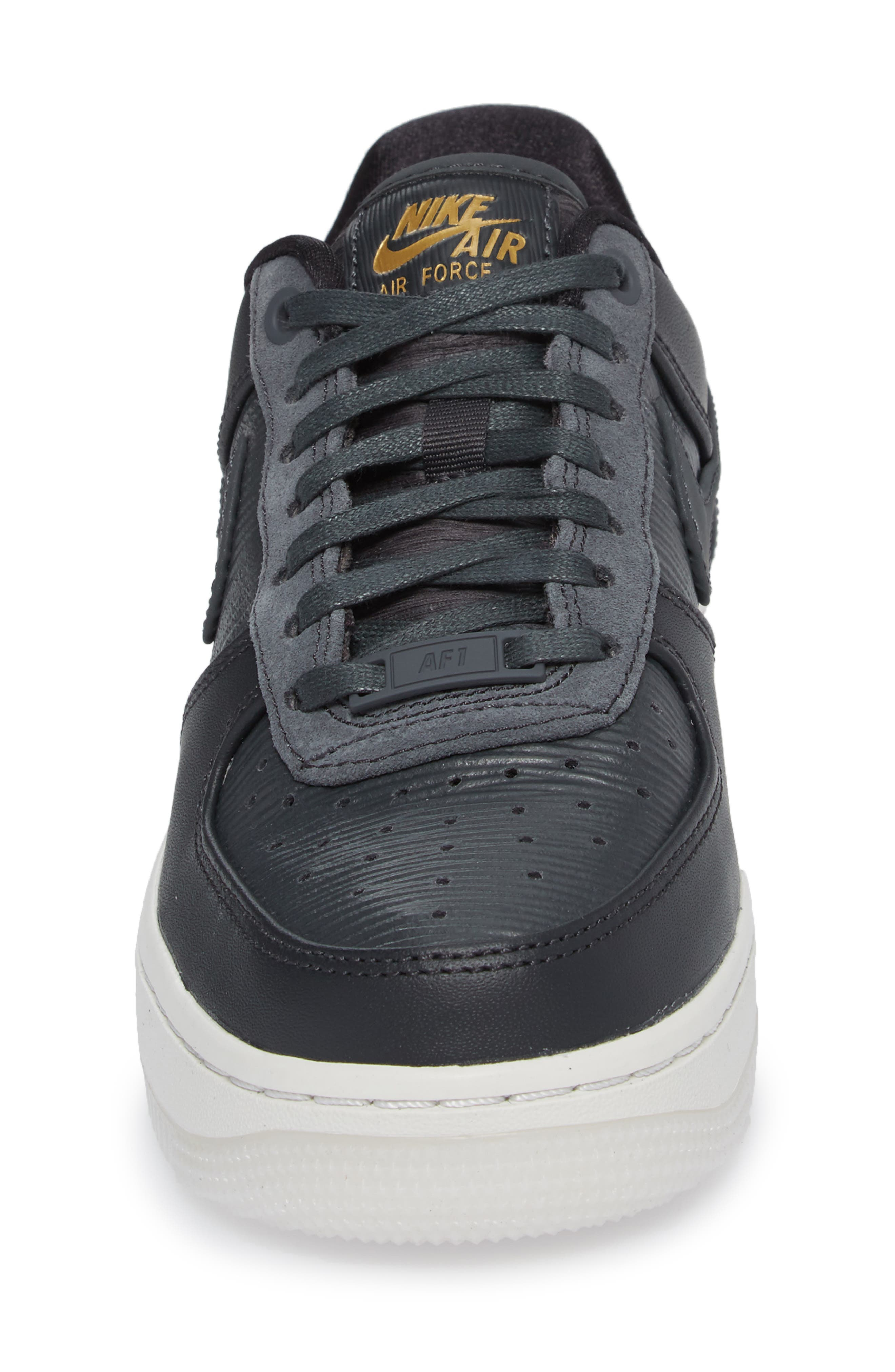 Air Force 1 '07 LX Sneaker,                             Alternate thumbnail 4, color,                             ANTHRACITE/ ANTHRACITE