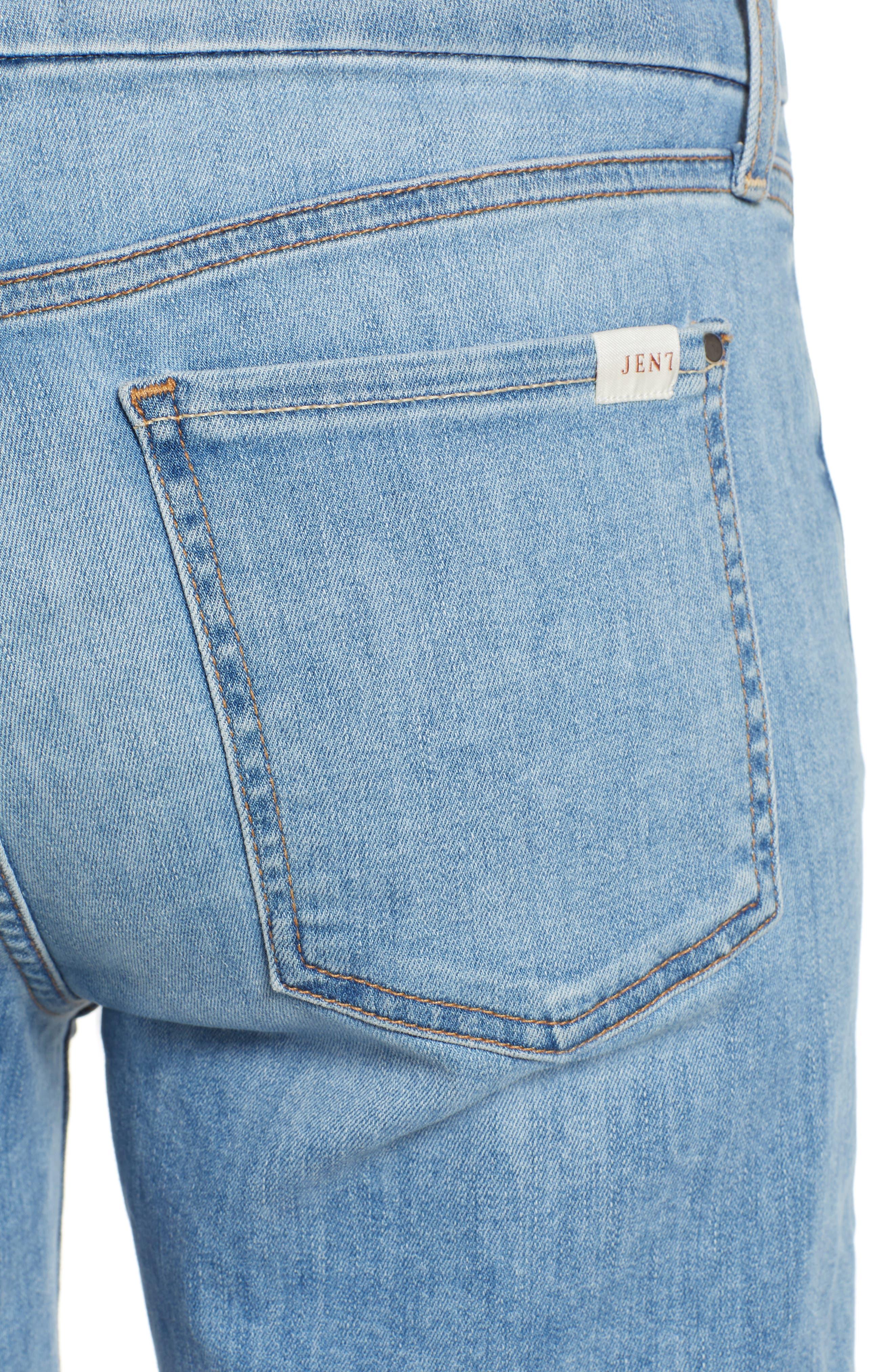 JEN7 BY 7 FOR ALL MANKIND,                             Roll Cuff Bermuda Shorts,                             Alternate thumbnail 4, color,                             LA QUINTA